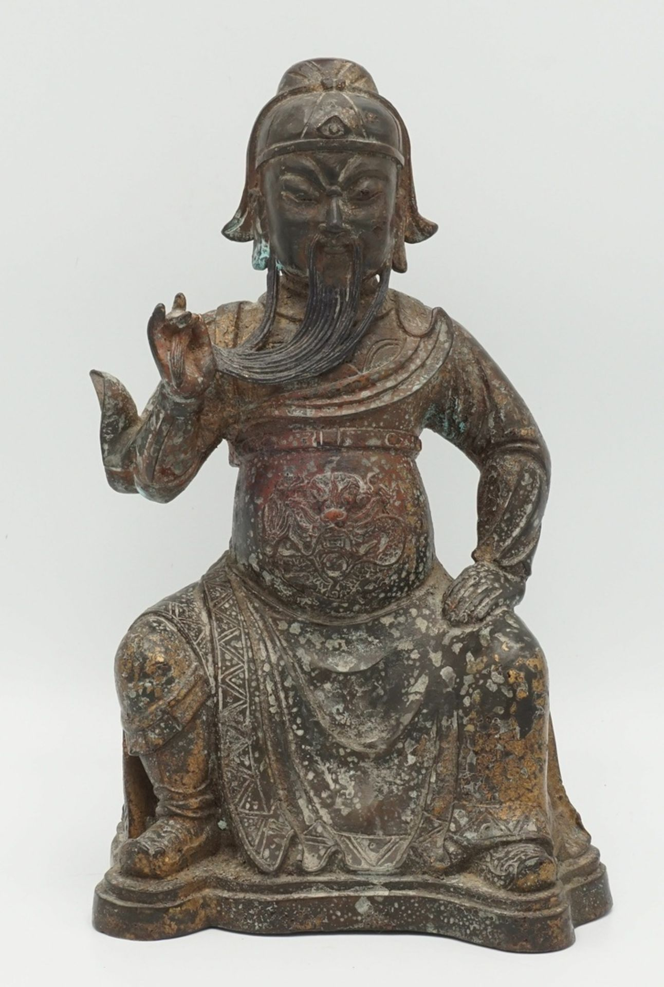 Guan Yu Bronzefigur, China, 18./19. Jh.