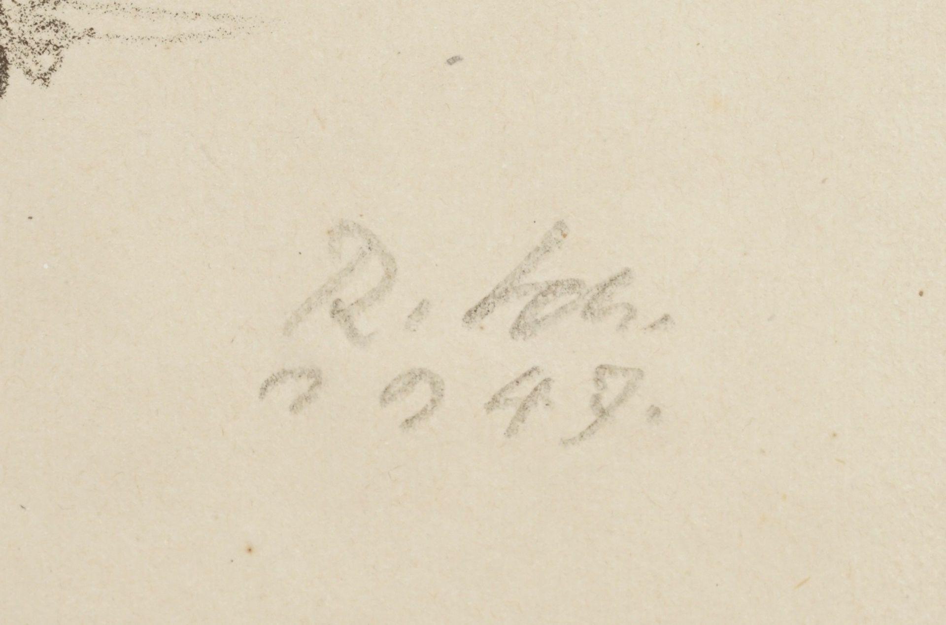 Richard Scheibe, Stehender männlicher Akt mit erhobenen Armen - Bild 4 aus 4
