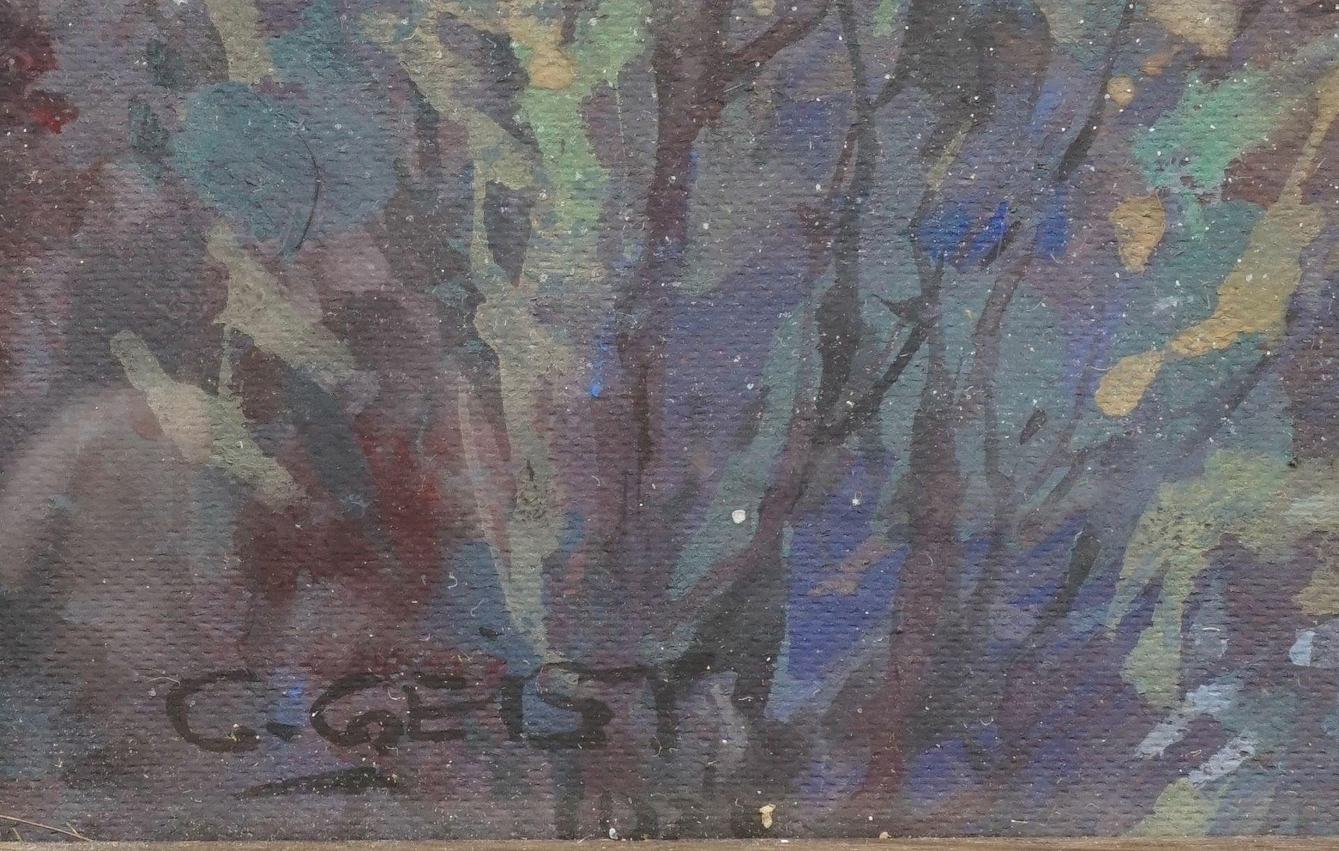 Carl Wilhelm Geist, Flusslauf mit Burgenlandschaft - Bild 4 aus 4