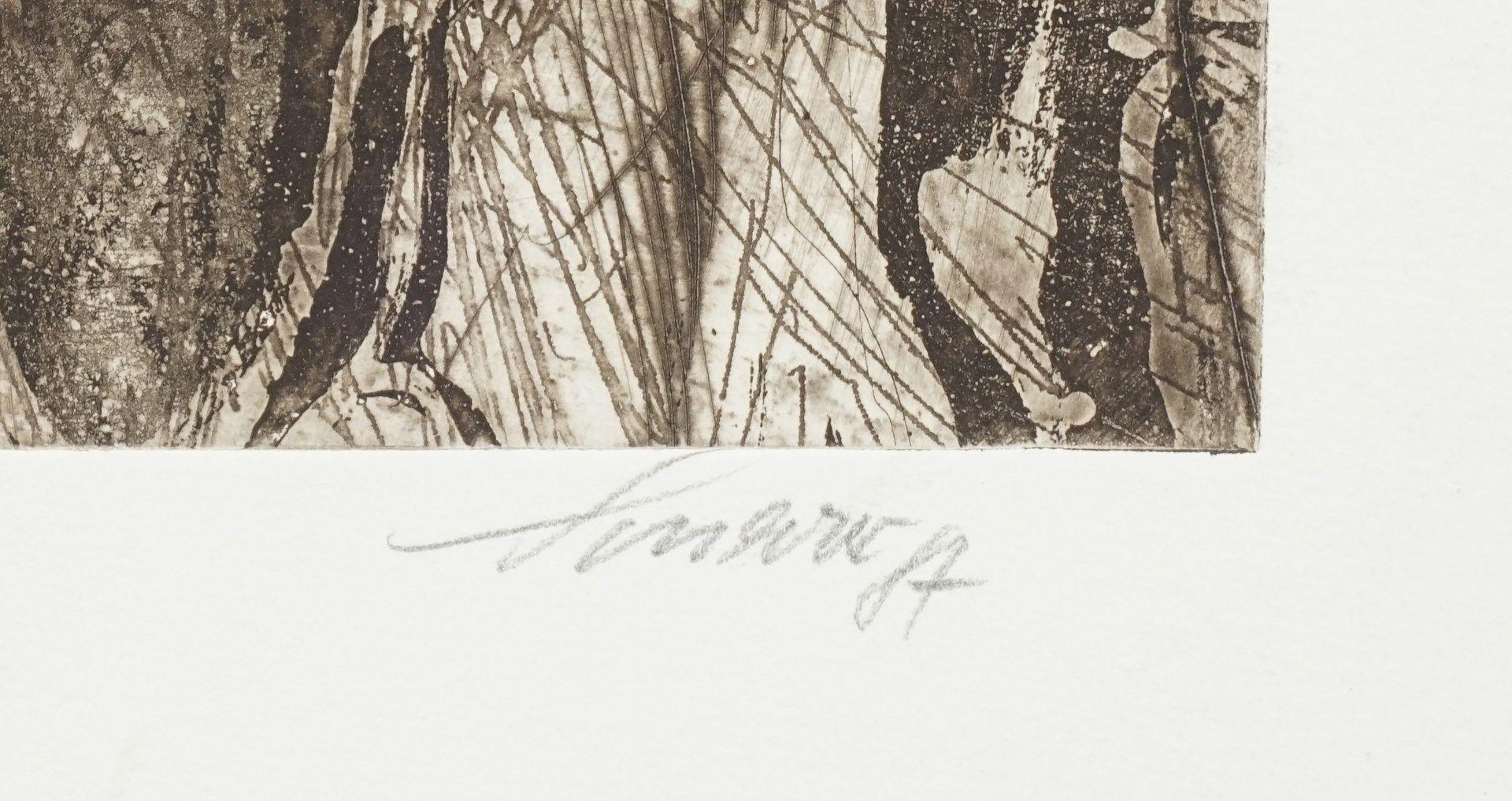 """Heinz Scharr, """"Nächtlicher Wald"""" - Bild 3 aus 3"""