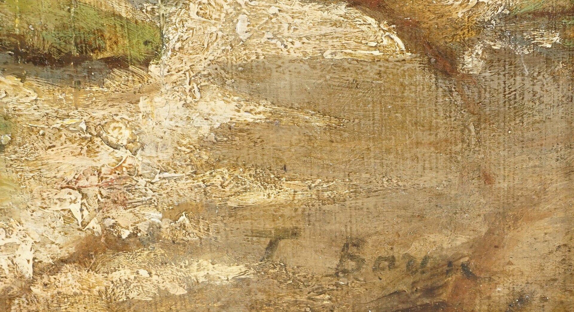 T. Baum ( ), Heidelandschaft mit Spaziergängern - Bild 4 aus 4