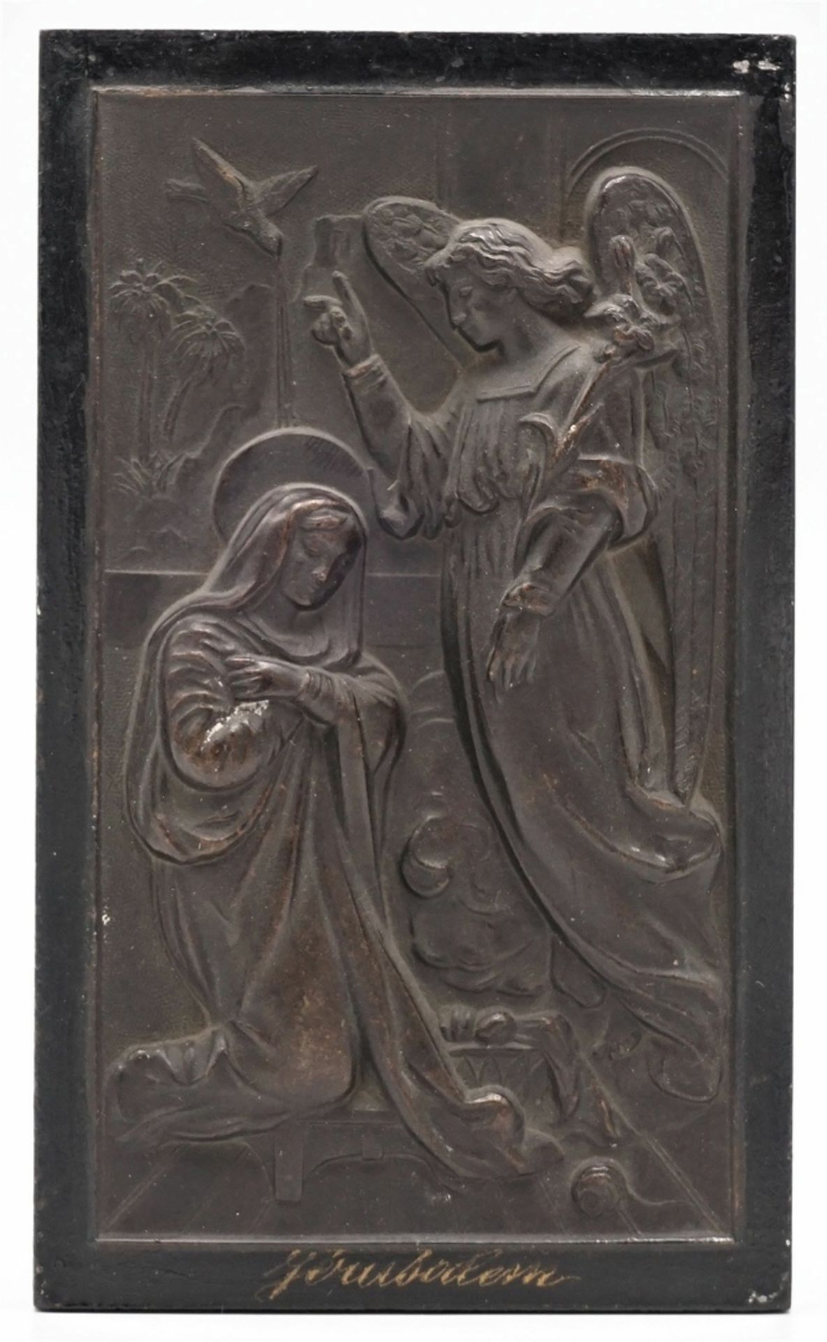 Jerusalem-Votivbild mit Verkündigung an Maria, 1. Hälfte 20. Jh.