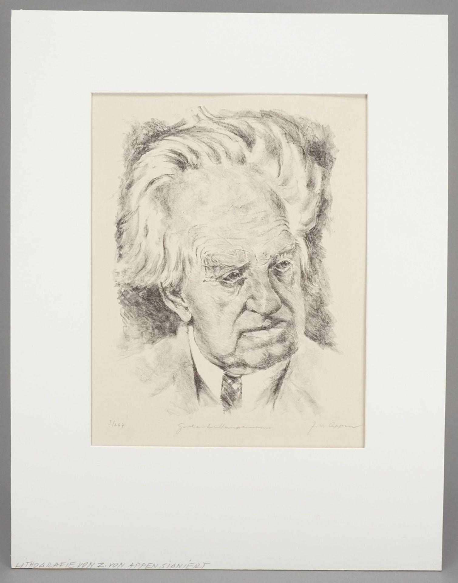 """J. von Appen, """"Portrait Gerhart Hauptmann"""" - Bild 2 aus 4"""
