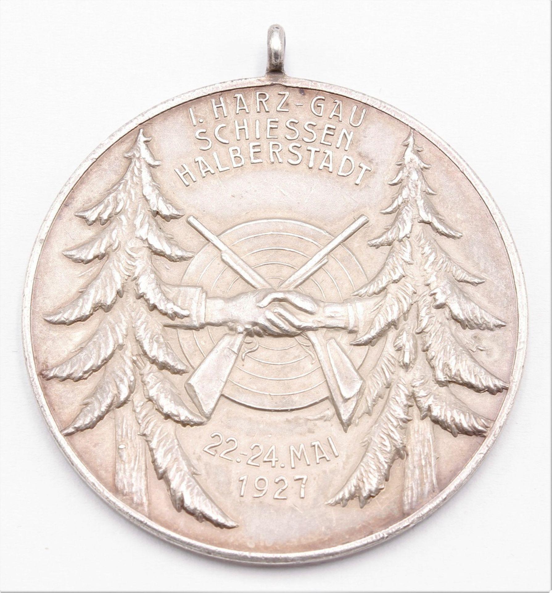 Medaille Halberstadt, I. Harz-Gau Schiessen, 1927 - Bild 2 aus 2