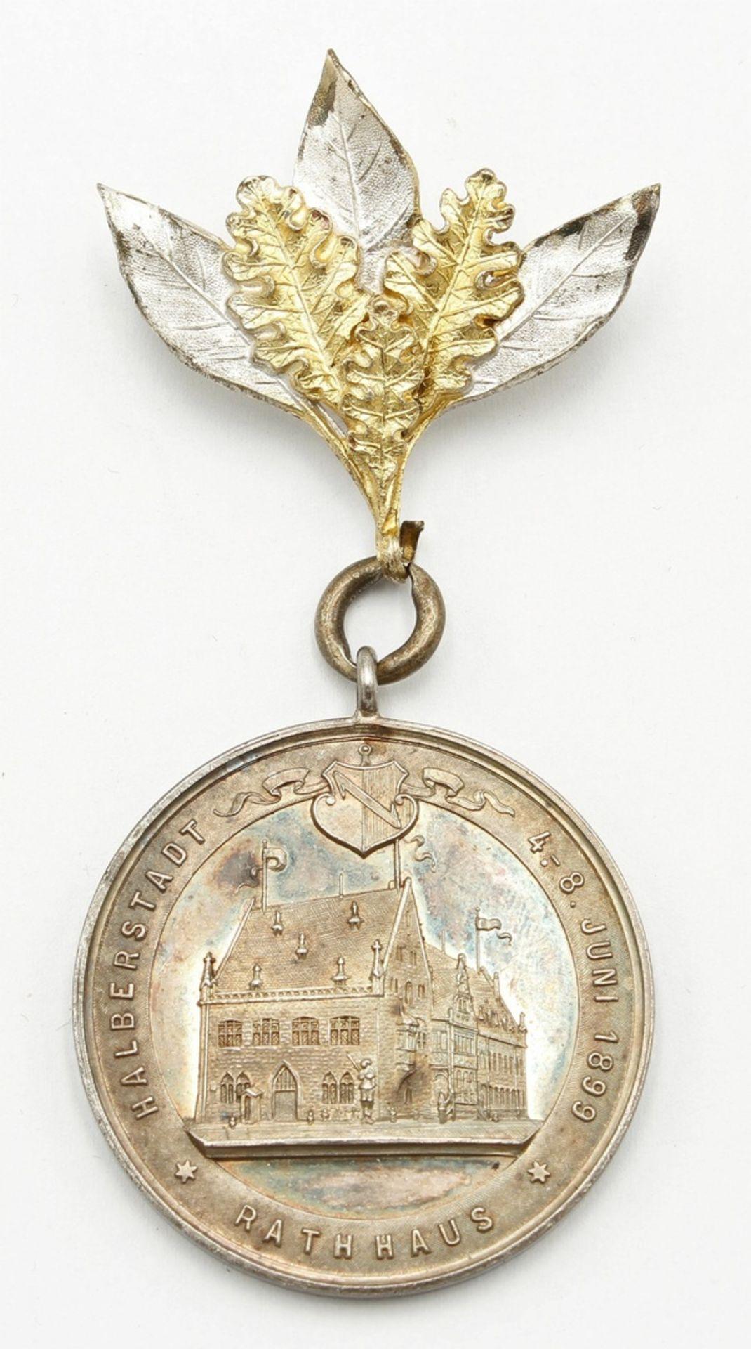 Medaille Halberstadt, 18. Sächs. Provinzial-Bundesschiessen, 1899