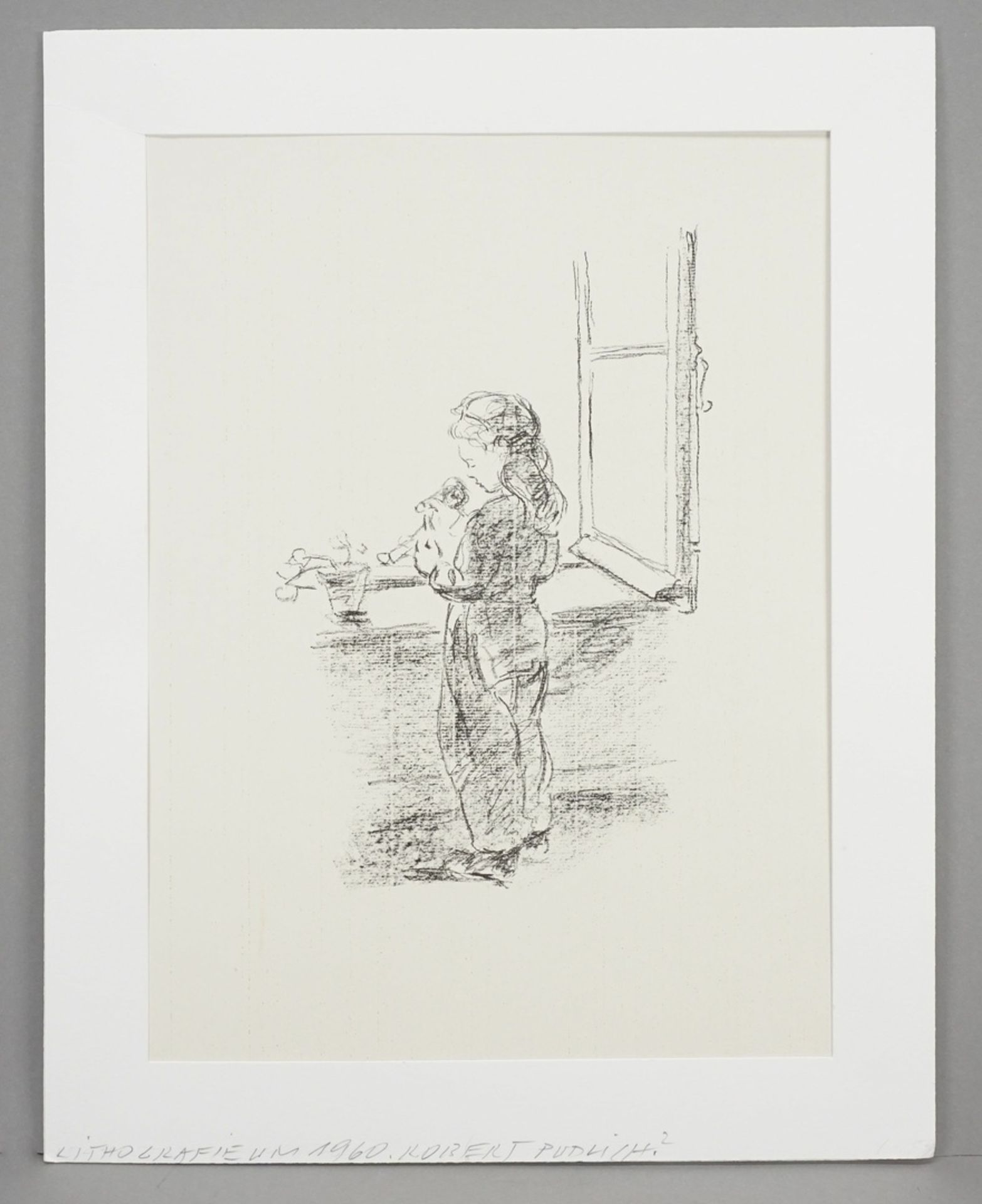 Robert Pudlich, Kleine Puppenmutter am Fenster - Bild 2 aus 3