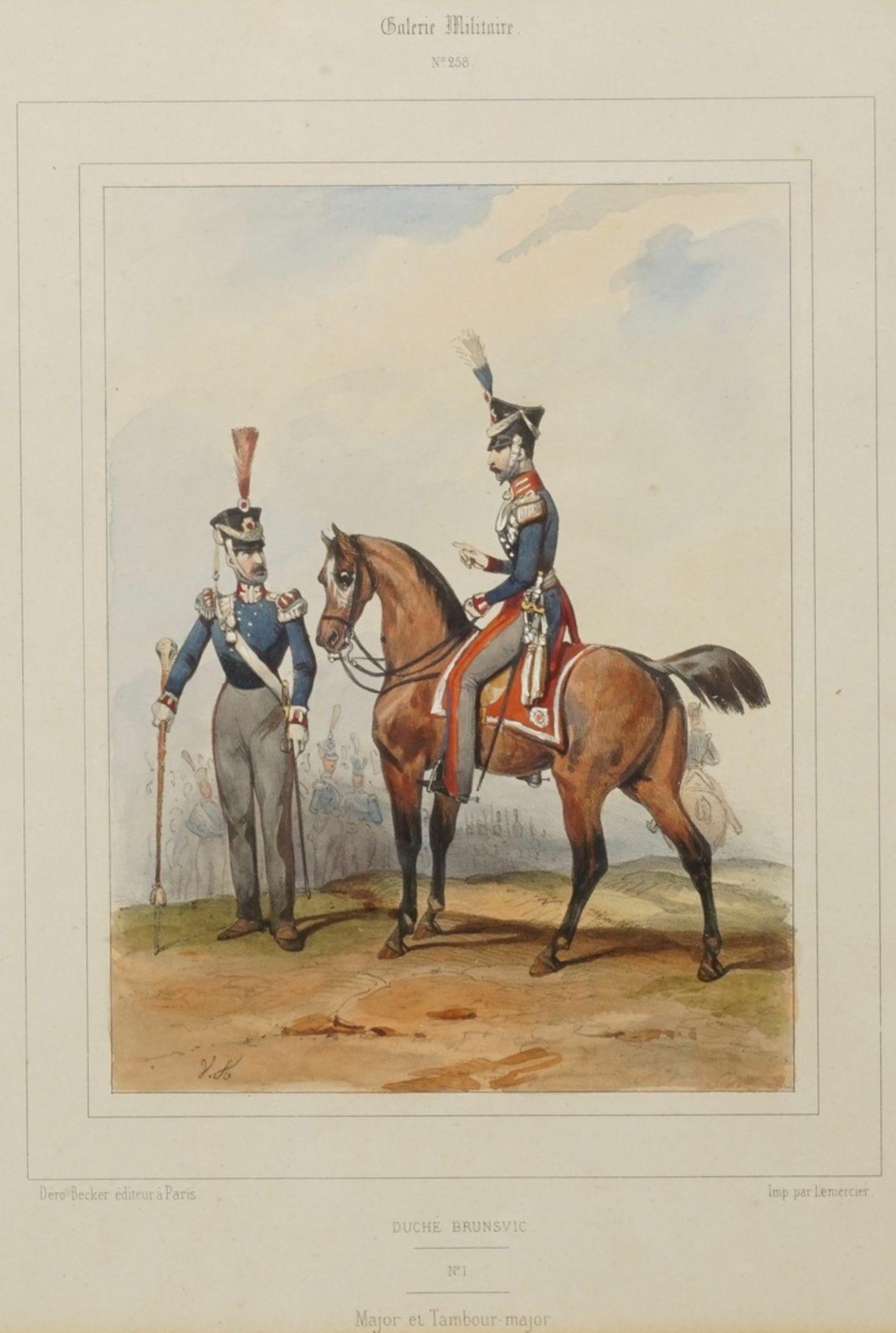"""Zwei Blatt aus der """"Galerie Militaire"""" - Bild 2 aus 3"""