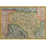 "Gerhard Mercator, ""Burgundiae Comitatus. Franche comte"" (Landkarte Burgund)"