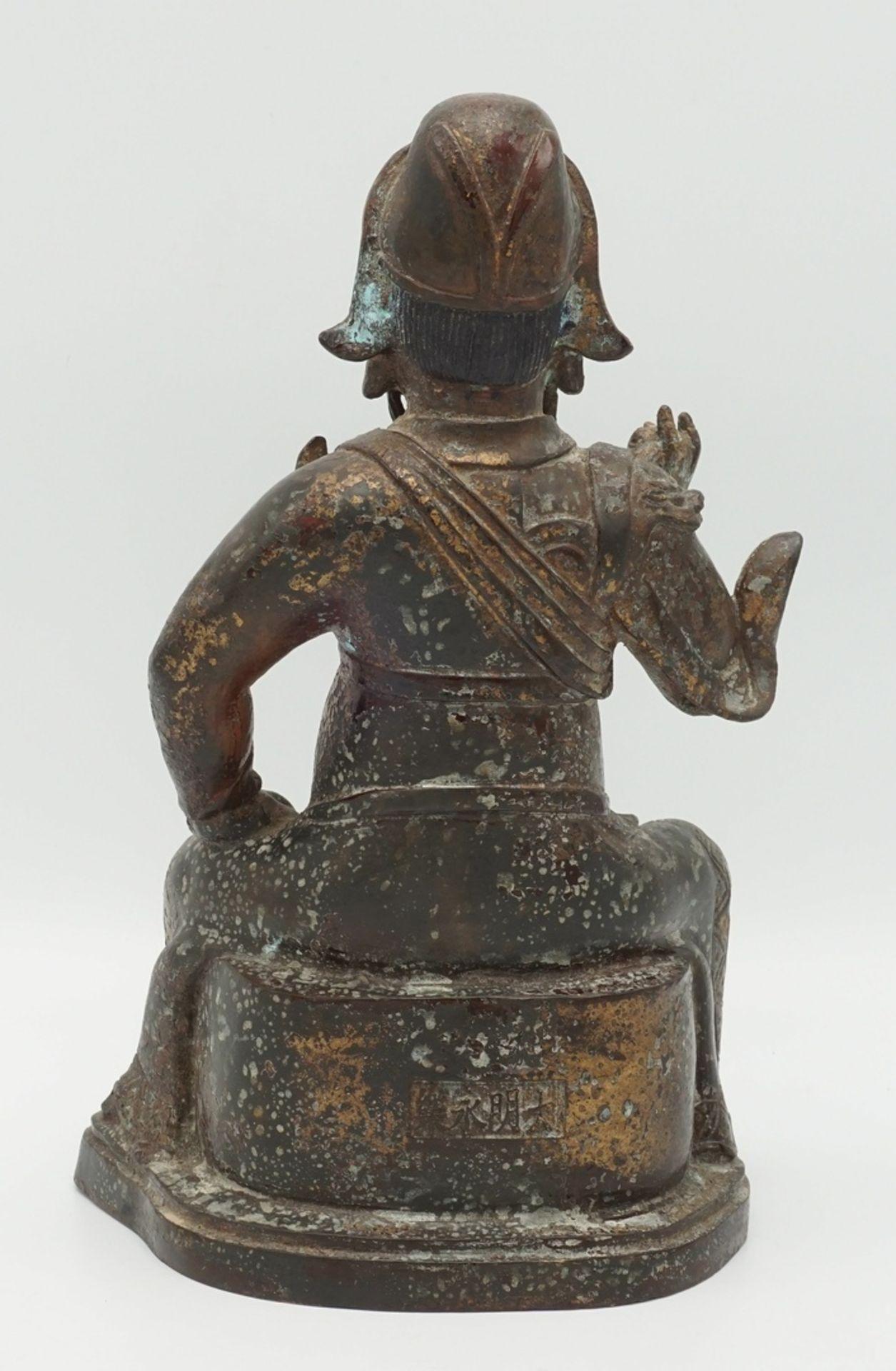 Guan Yu Bronzefigur, China, 18./19. Jh. - Bild 2 aus 4