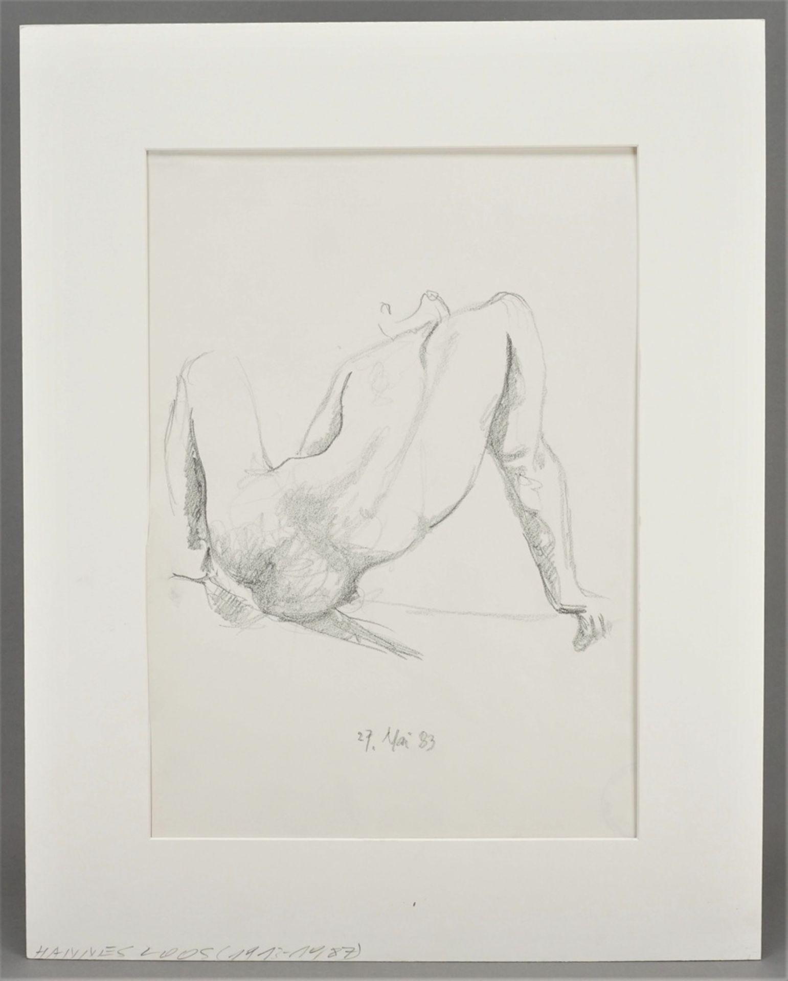 Hannes Loos, Männlicher Rückenakt, aufgestützt - Bild 2 aus 4
