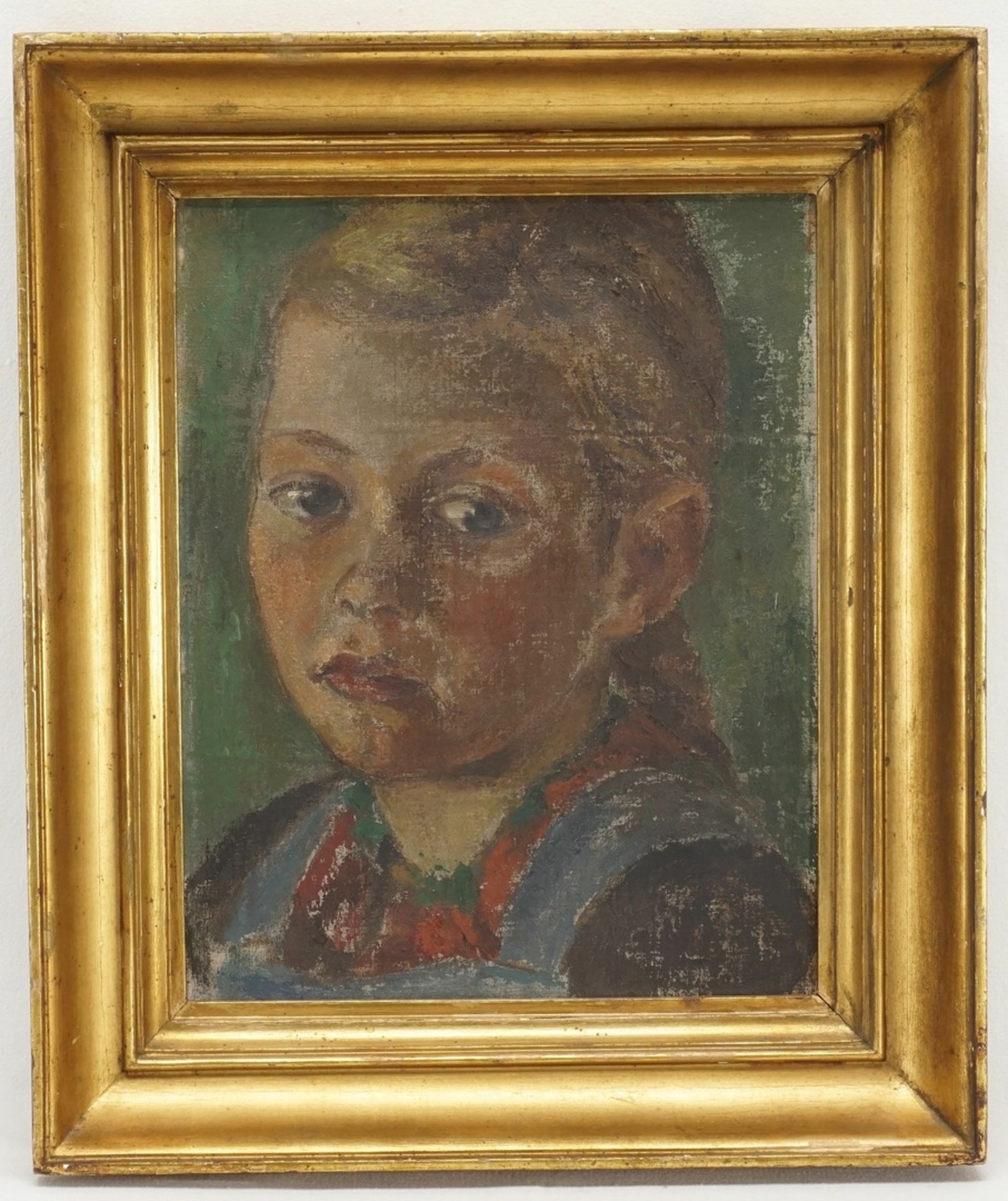 """Unbekannter Maler der frühen Moderne, """"Mädchenbildnis"""" - Bild 2 aus 3"""