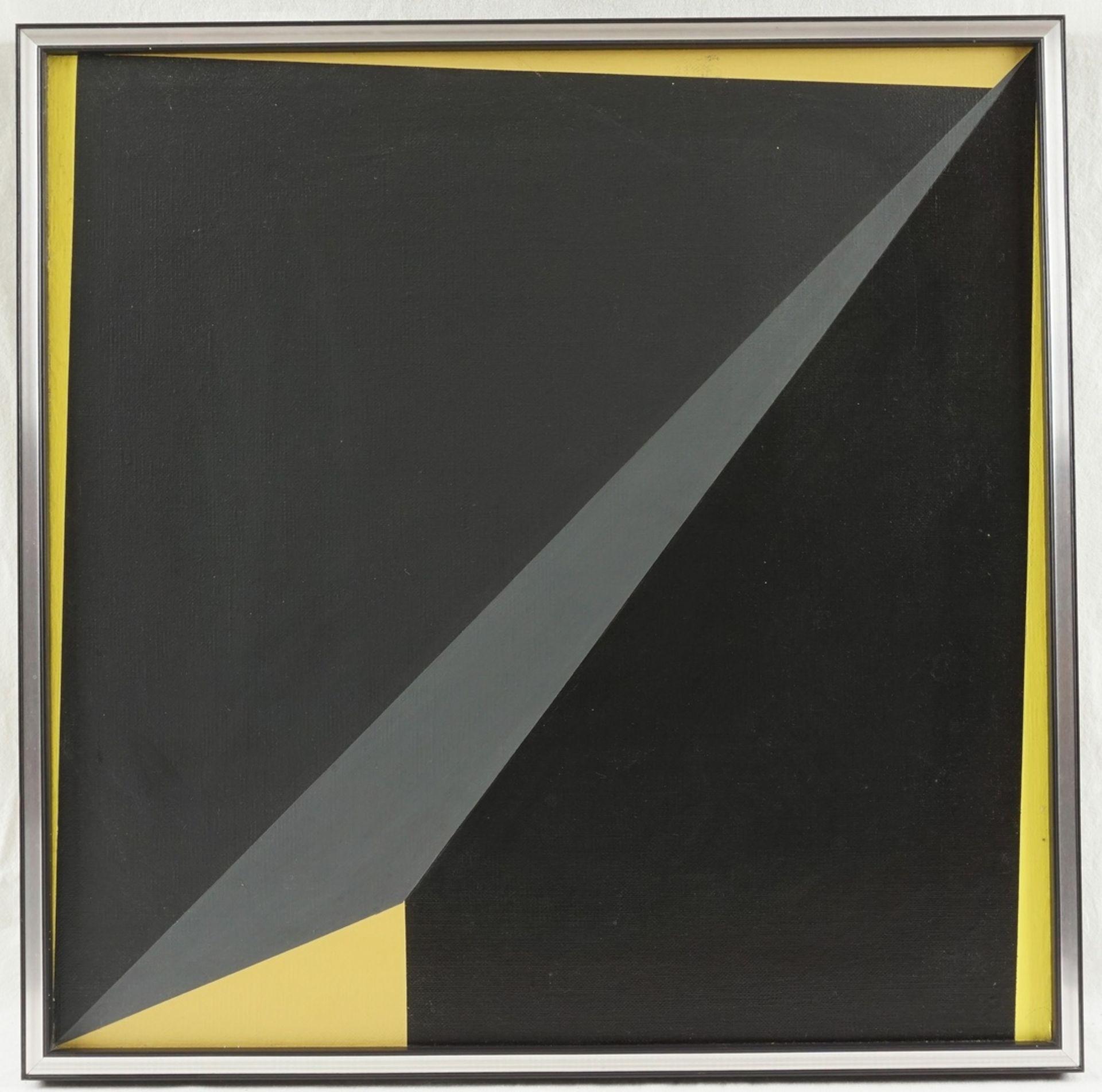 Helmut Sundhaußen, Geometrische Komposition auf Gelb