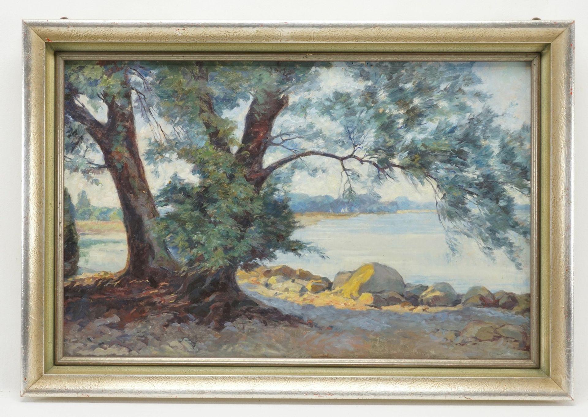 """Conrad Strasser, """"Nachmittagssonne am Seeufer"""" - Bild 2 aus 4"""