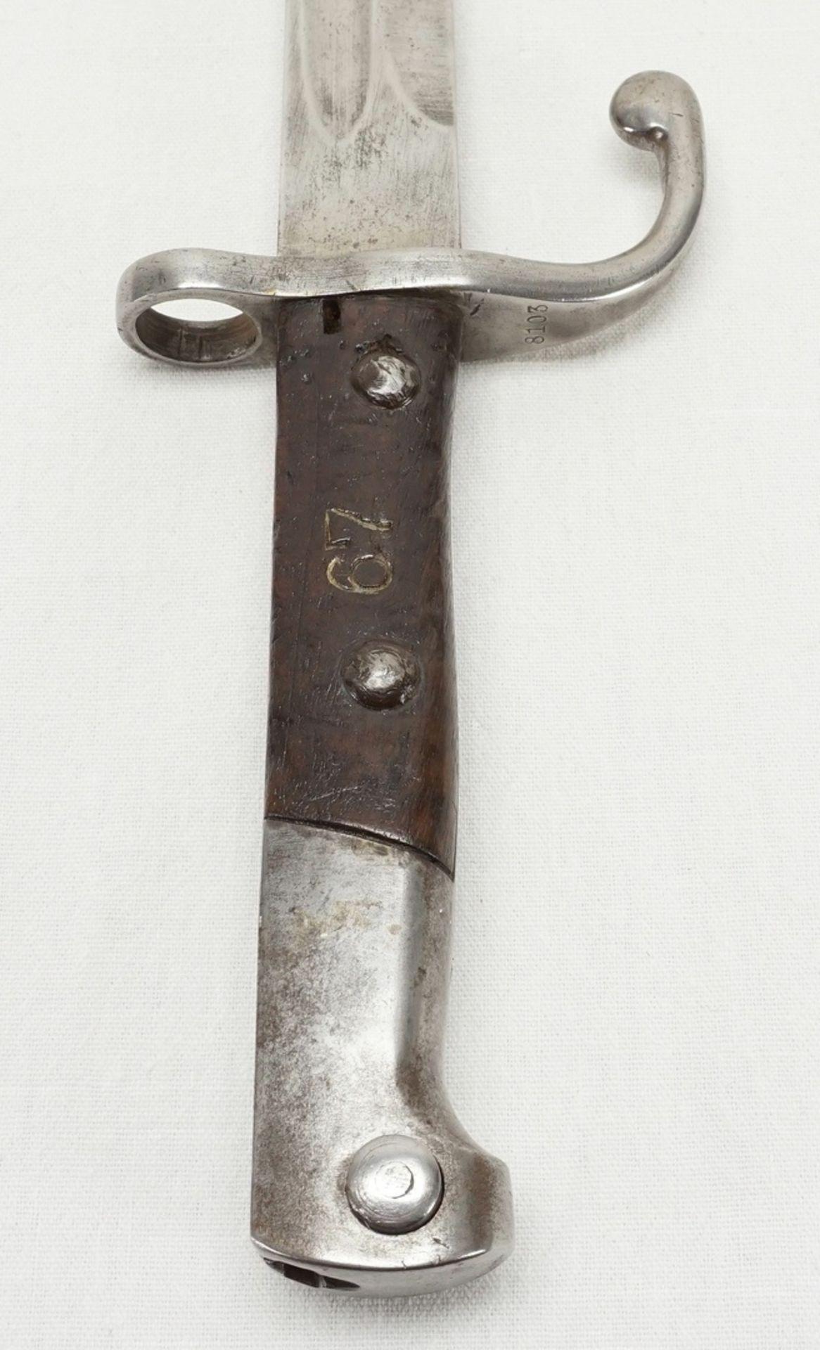 Vier Bajonette ohne Scheide, 1900 bis 1945 - Bild 3 aus 5