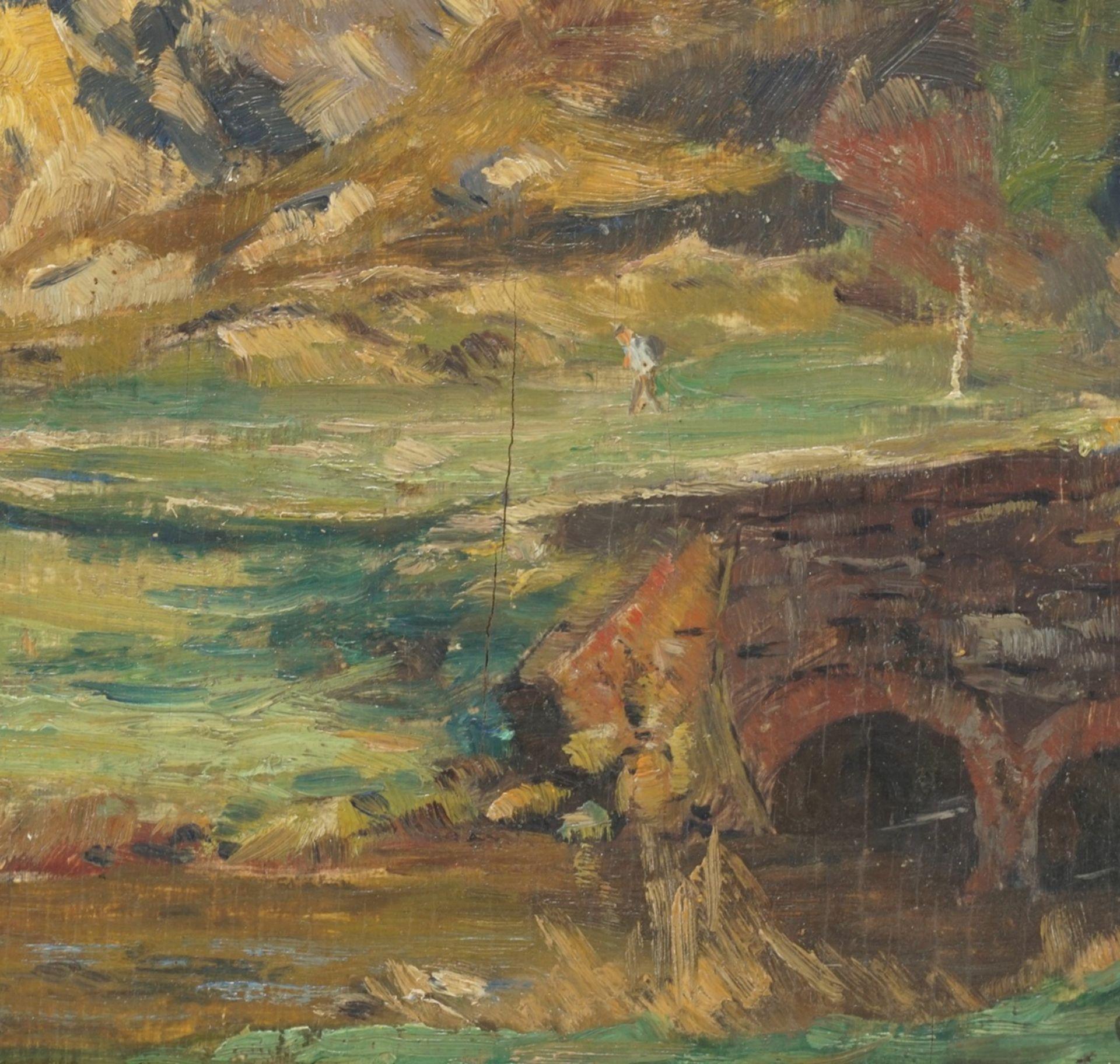 Alfred Rasenberger, Landschaftsstudie mit Steinbrücke - Bild 3 aus 4