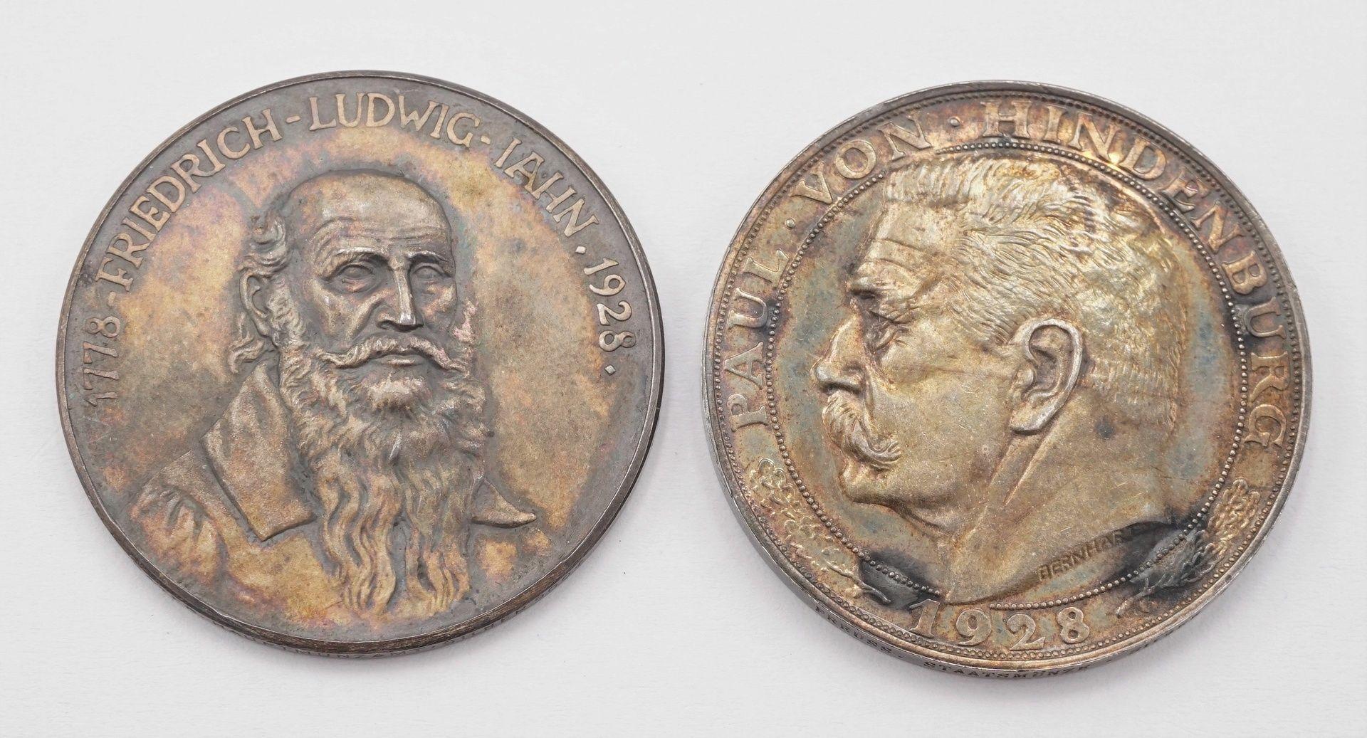 Zwei Gedenkmedaillen von 1928, Silber - Bild 2 aus 3