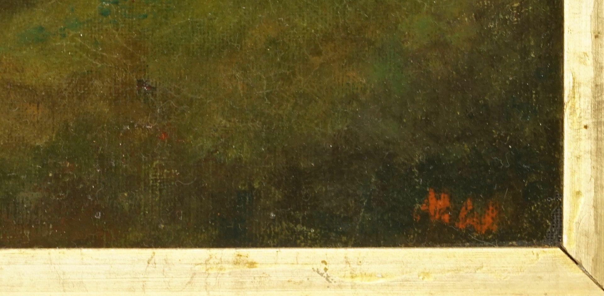 """Unbekannter Spätromantiker, """"Ruine mit Spitzbogentor"""" - Bild 4 aus 4"""