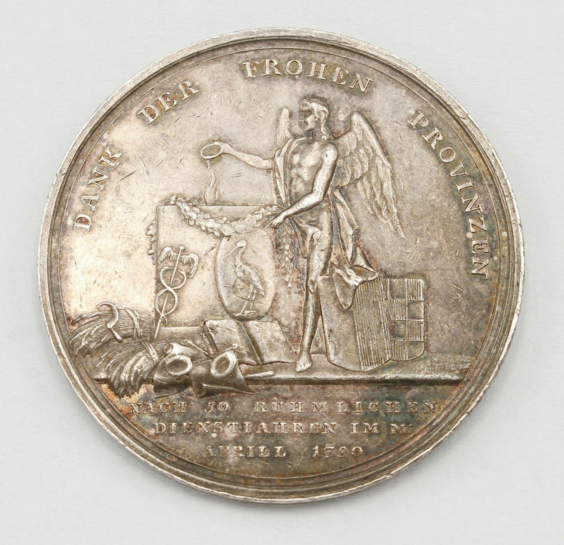 Jubiläumsmedaille Halberstadt, 1790, Ernst Otto Wasserschleben - Bild 2 aus 2