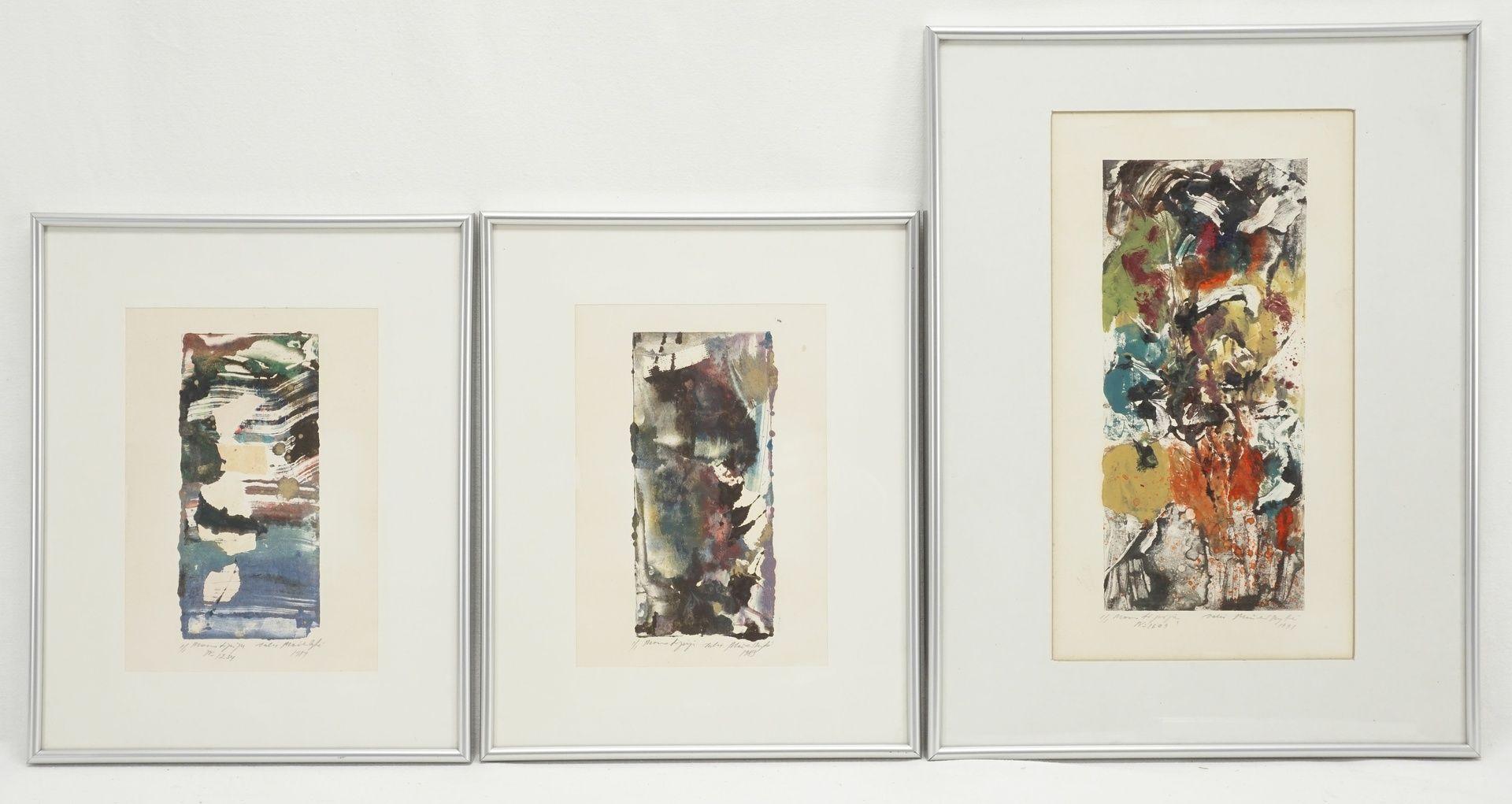 Unbekannter Künstler, drei informelle Kompositionen