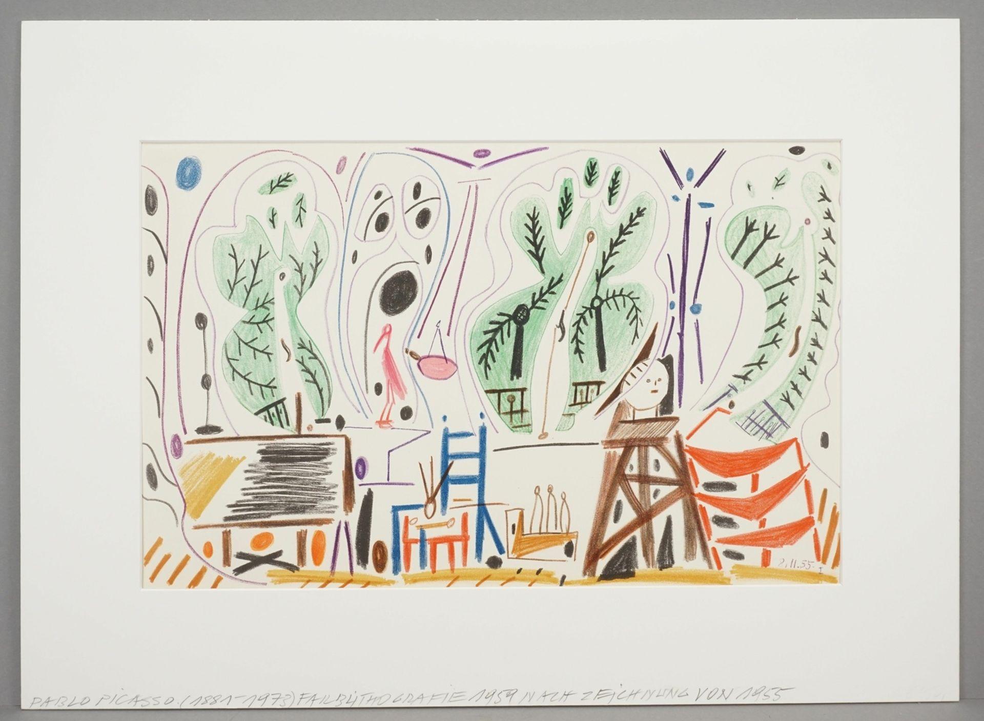 Pablo Picasso, Atelierszene (La Californie) - Bild 2 aus 3