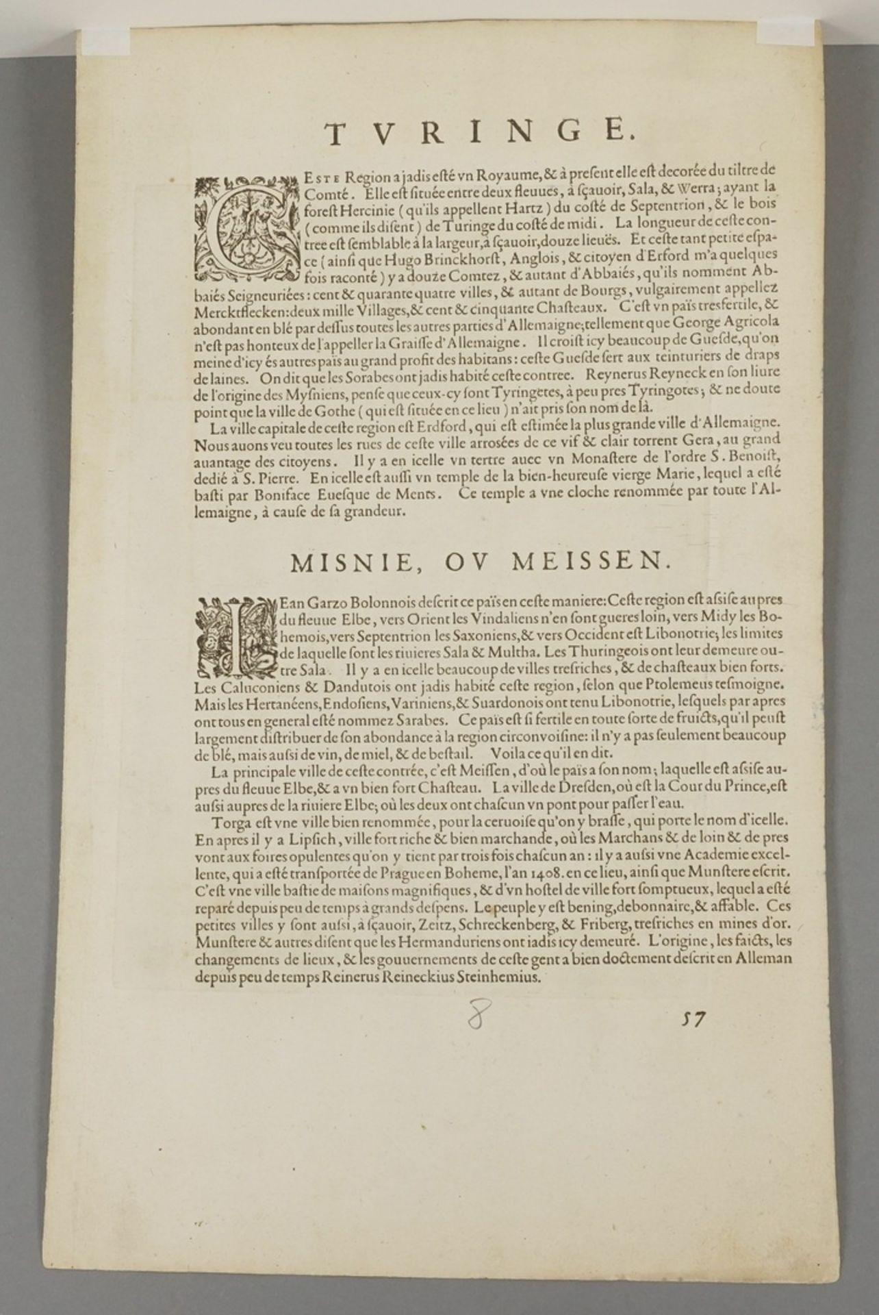 "Johannes Mellinger, ""Turingiae noviss. descript."" Landkarte Thüringen - Bild 4 aus 4"