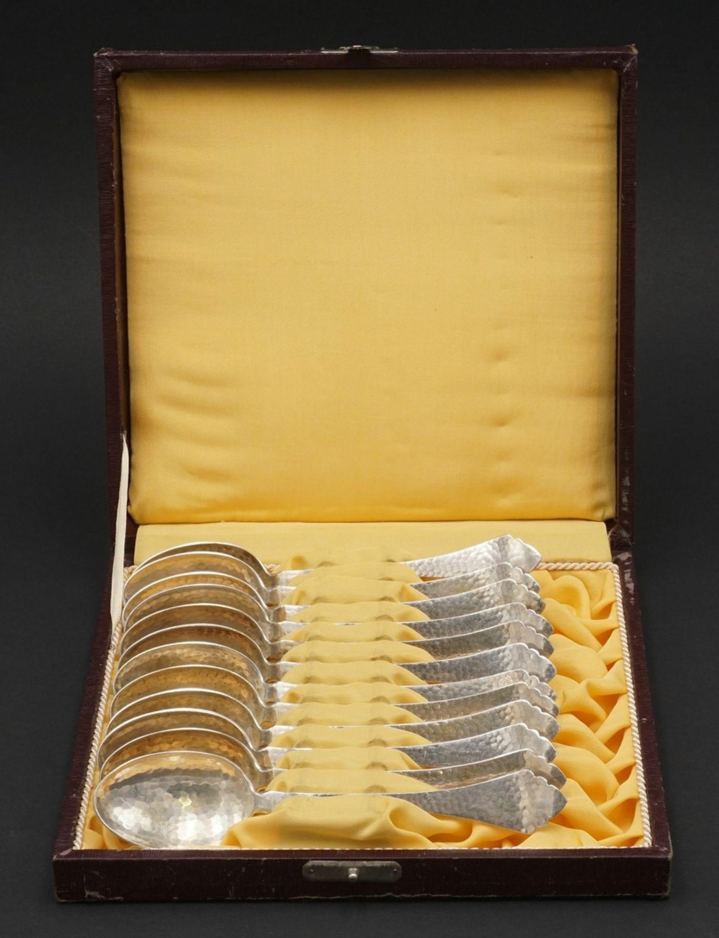 12 Mansfelder Silber Kaffeelöffel, 1917 - 1962 - Bild 2 aus 4