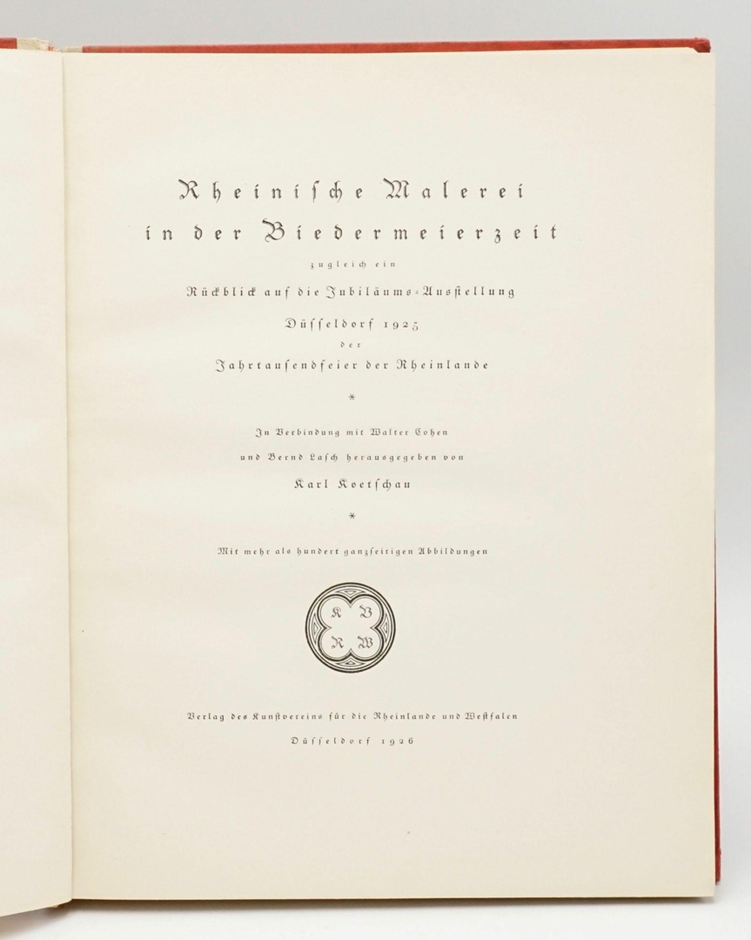 Schrifttum zur rheinischen Kunst / Rheinische Kunst in der Biedermeierzeit - Bild 3 aus 4