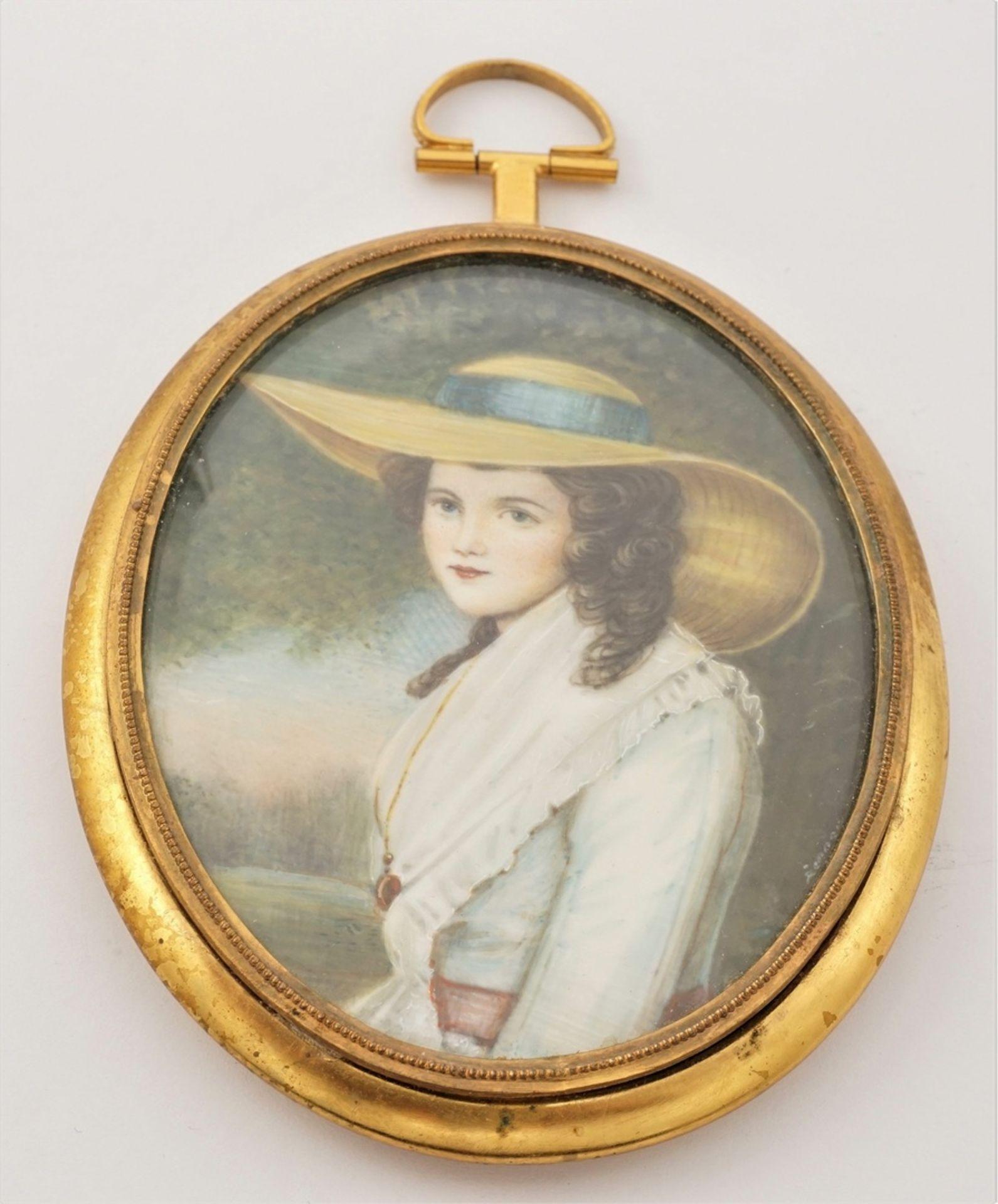 Miniatur-Portrait und -Brosche - Bild 3 aus 4