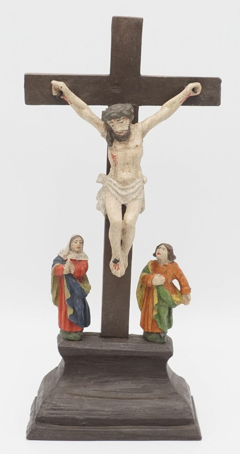 Jesus am Kreuz / Kreuzigungsgruppe
