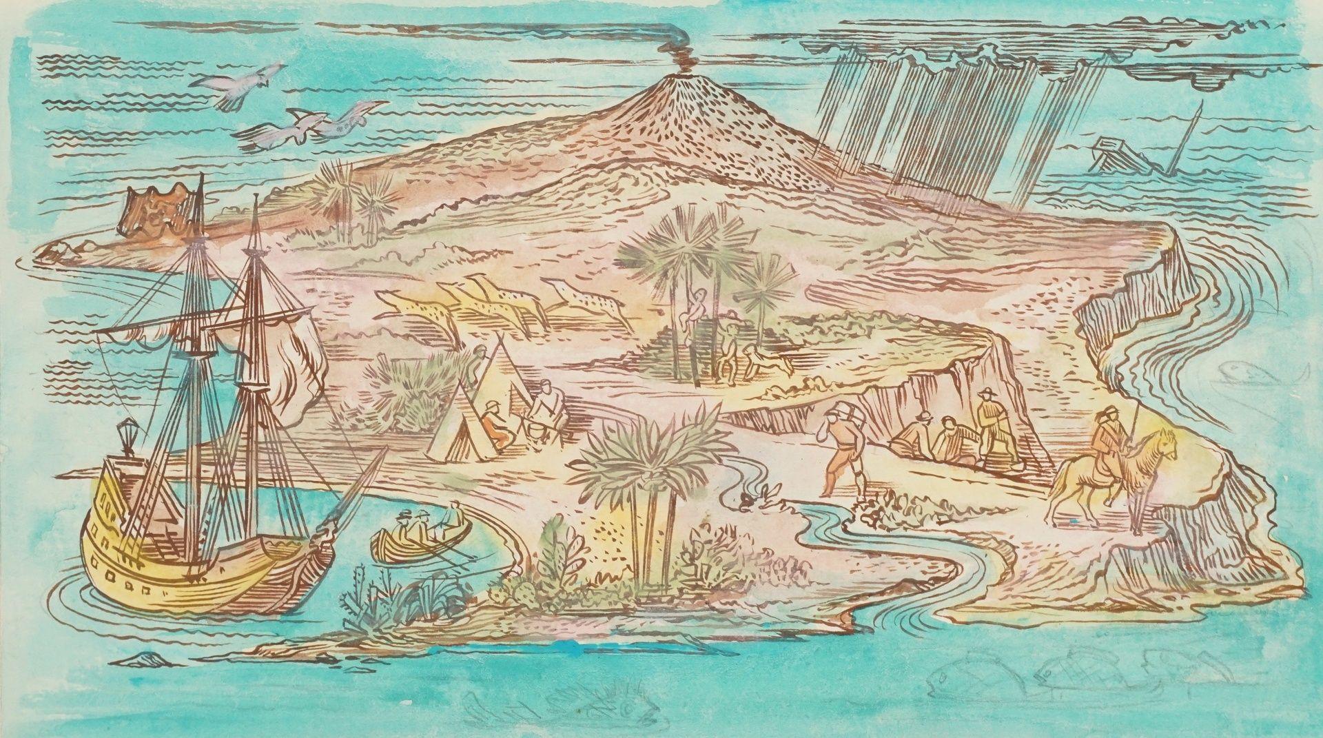 Richard Schwarzkopf, Exotische Insel mit Eroberern und Urbevölkerung