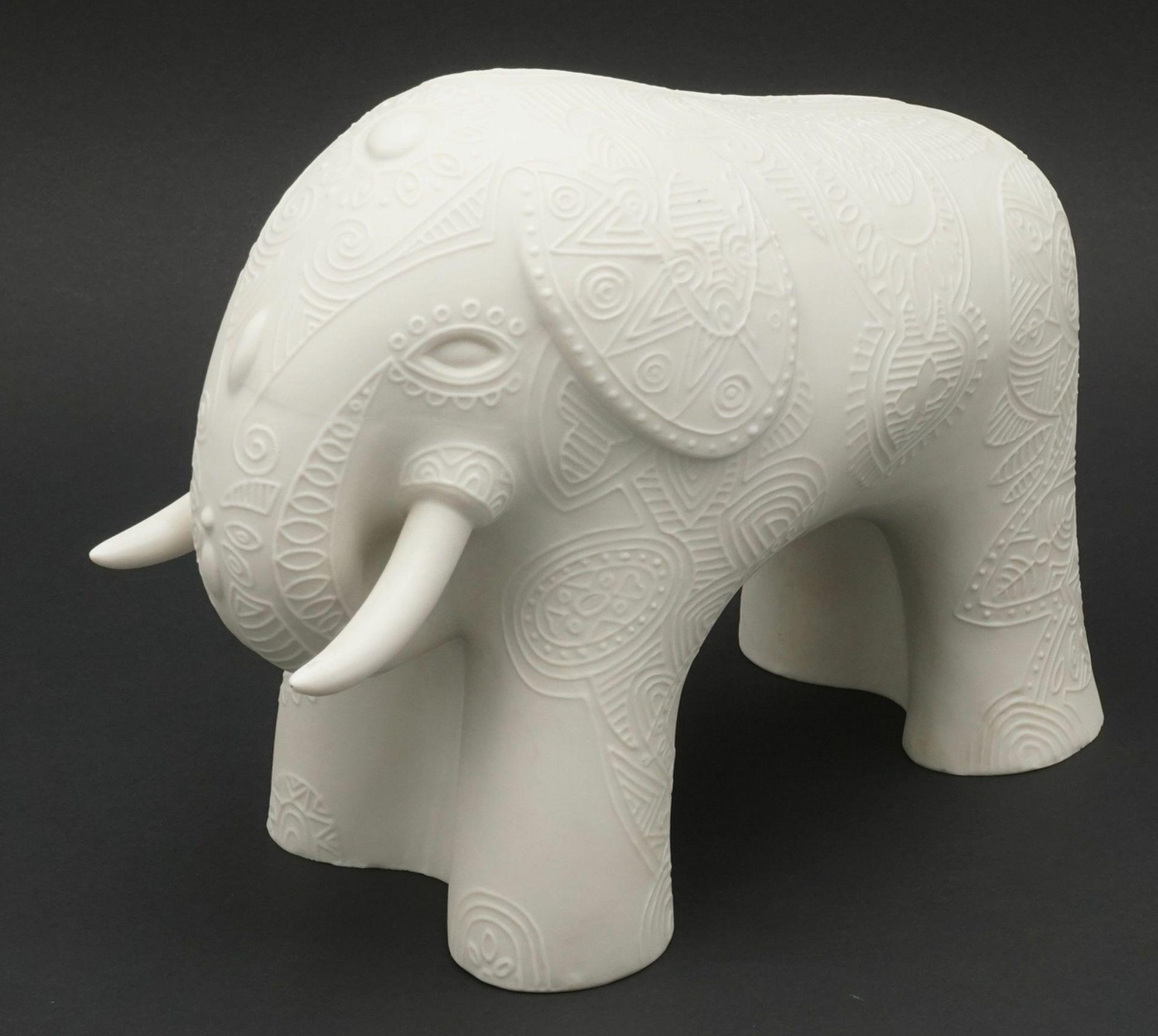 Cuno Fischer, Hutschenreuther Indischer Elefant - Bild 2 aus 4