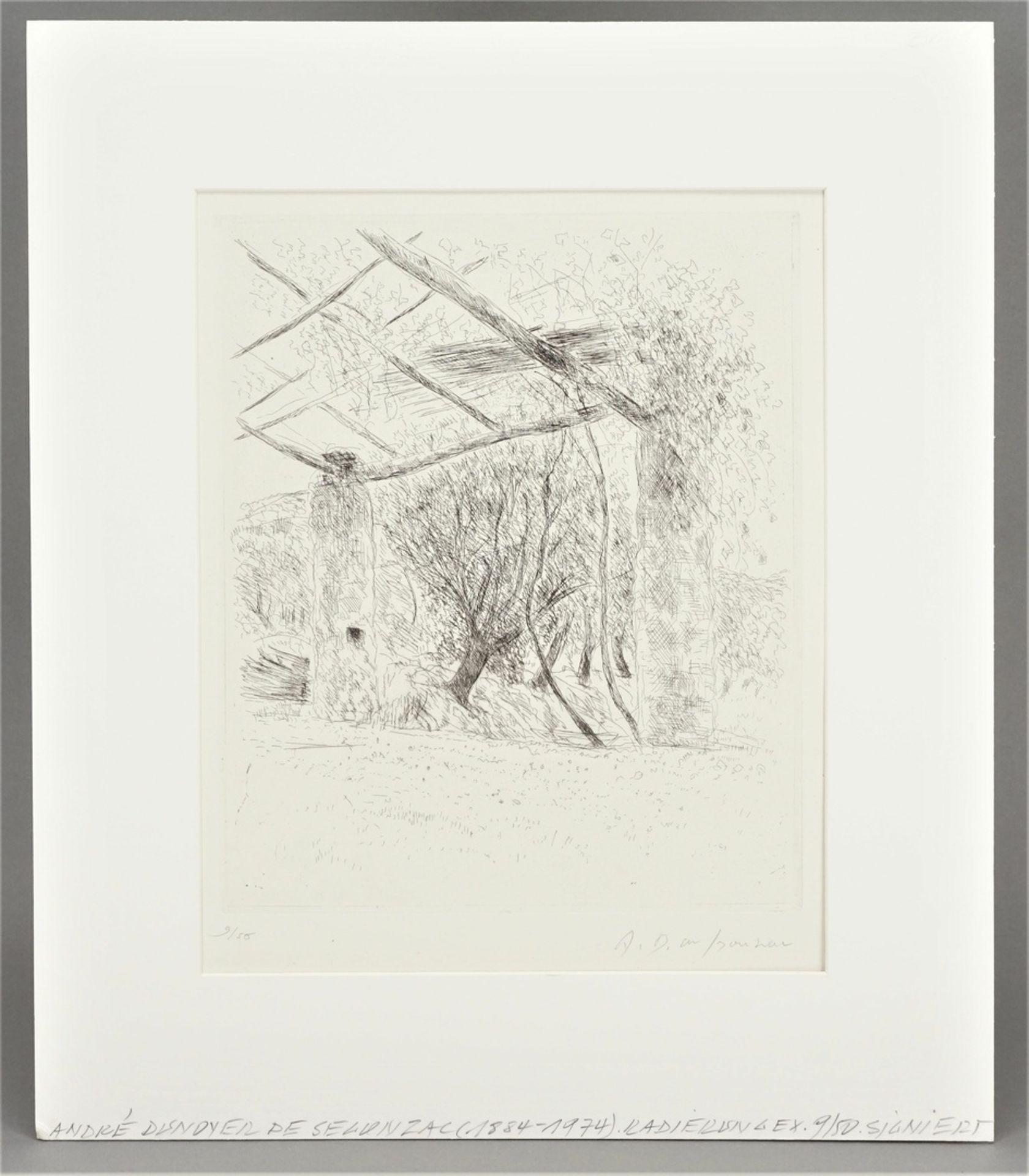 André Dunoyer De Segonzac, Gartenecke - Bild 2 aus 4