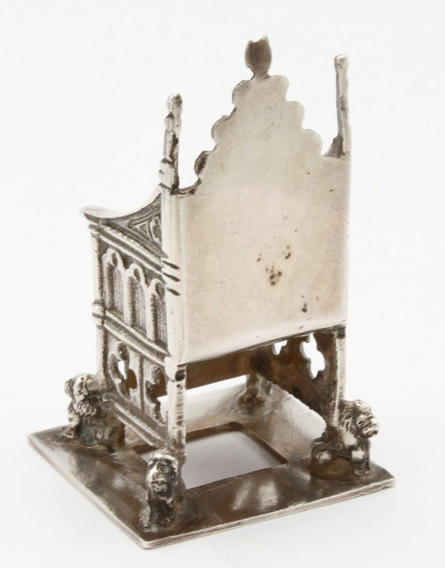 Kleiner Silberthron / -sessel, England, 1902 - Bild 4 aus 5