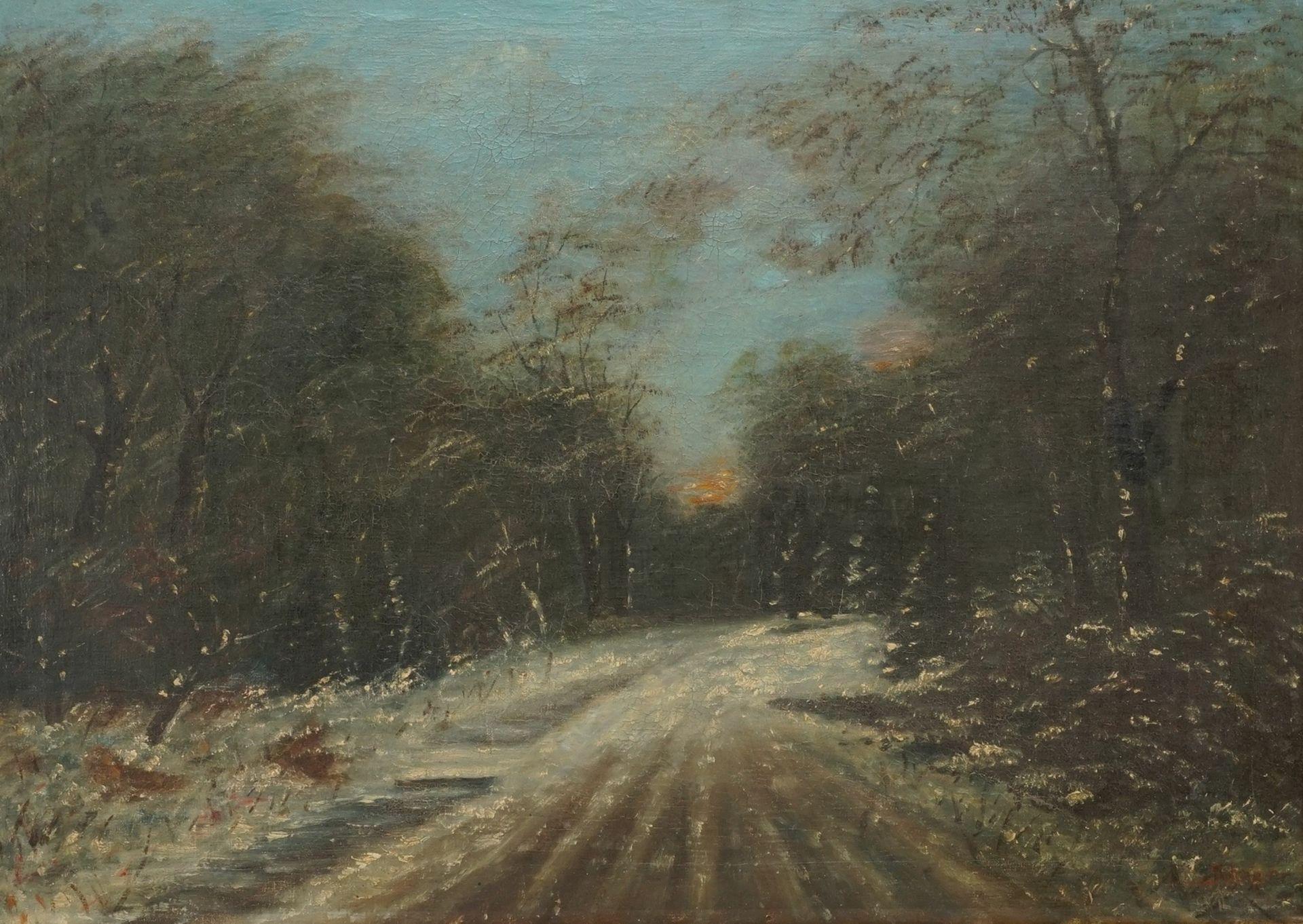 "Friedrich Schaper, ""Winterwaldweg"""