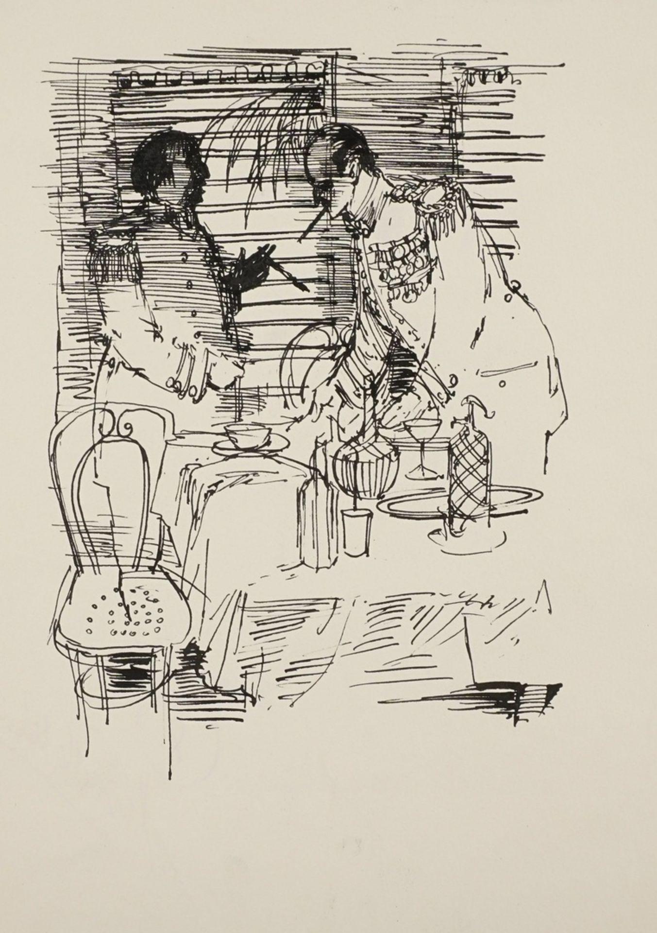 Hans-Georg Lenzen, Illustration eines militärtaktischen Gesprächs