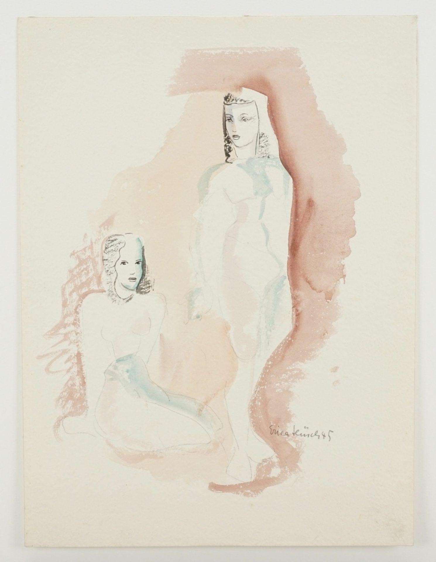 Erica Hüsch, Zwei junge Frauen beieinander - Bild 3 aus 4