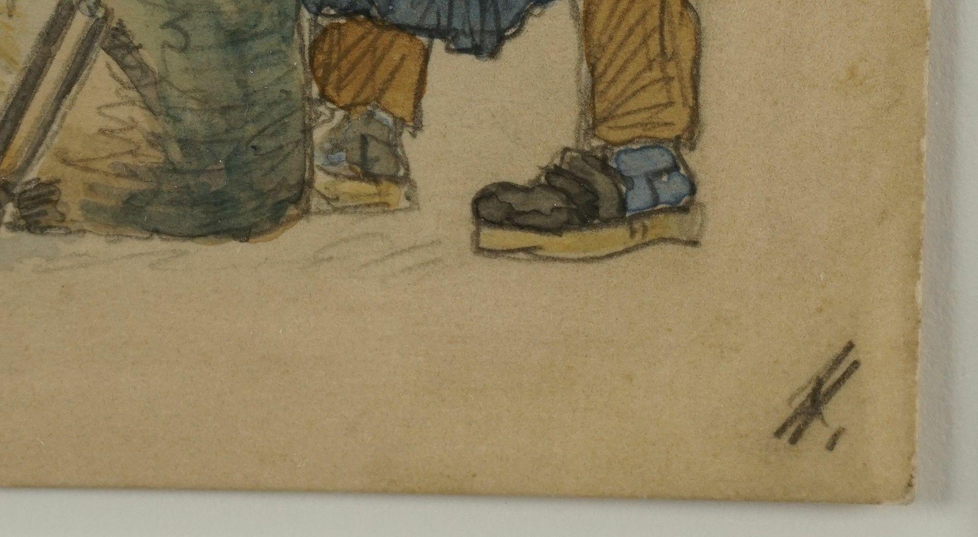 Unbekannter Berliner Künstler, Der Stellmacher am Amboss - Bild 3 aus 3