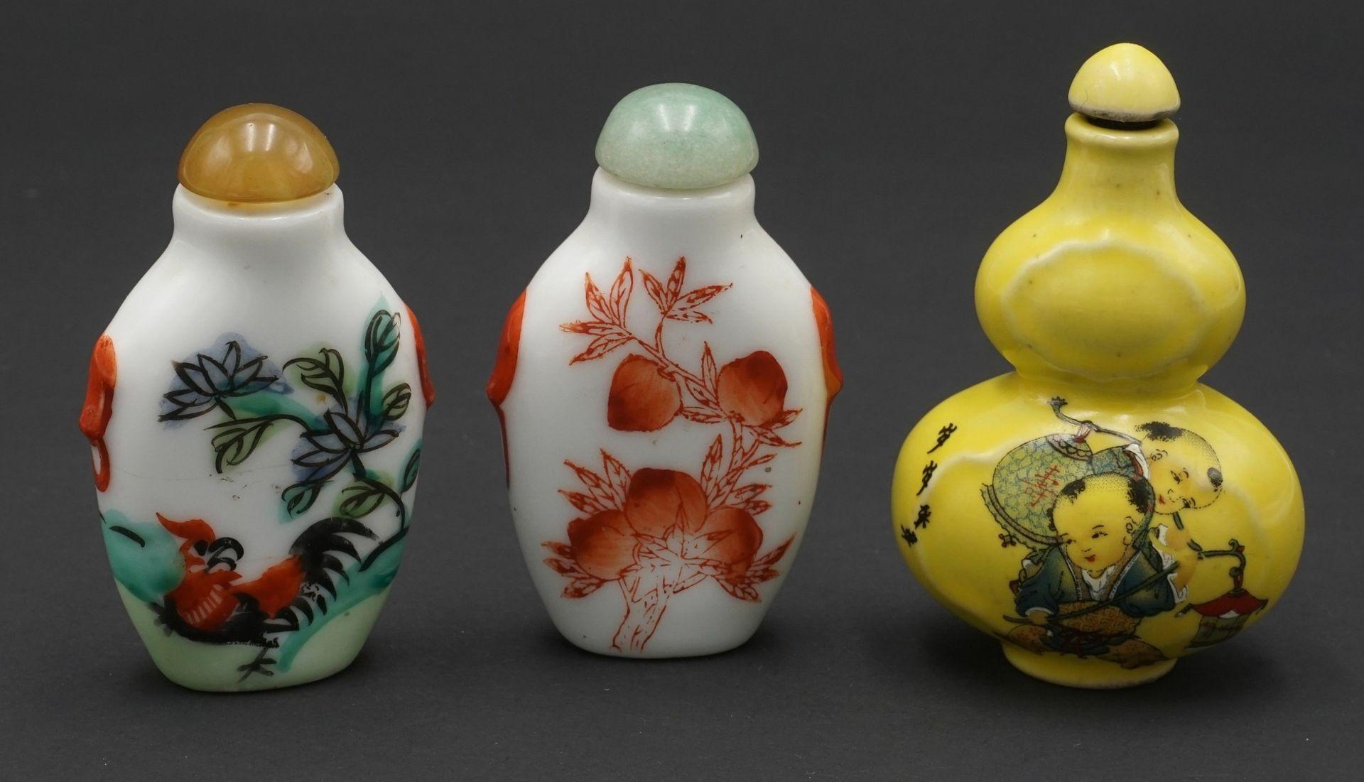 Sieben Snuff Bottles, China - Bild 4 aus 5