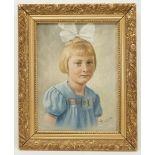 Barto, Kinderbildnis eines Mädchens mit Schleife im Haar