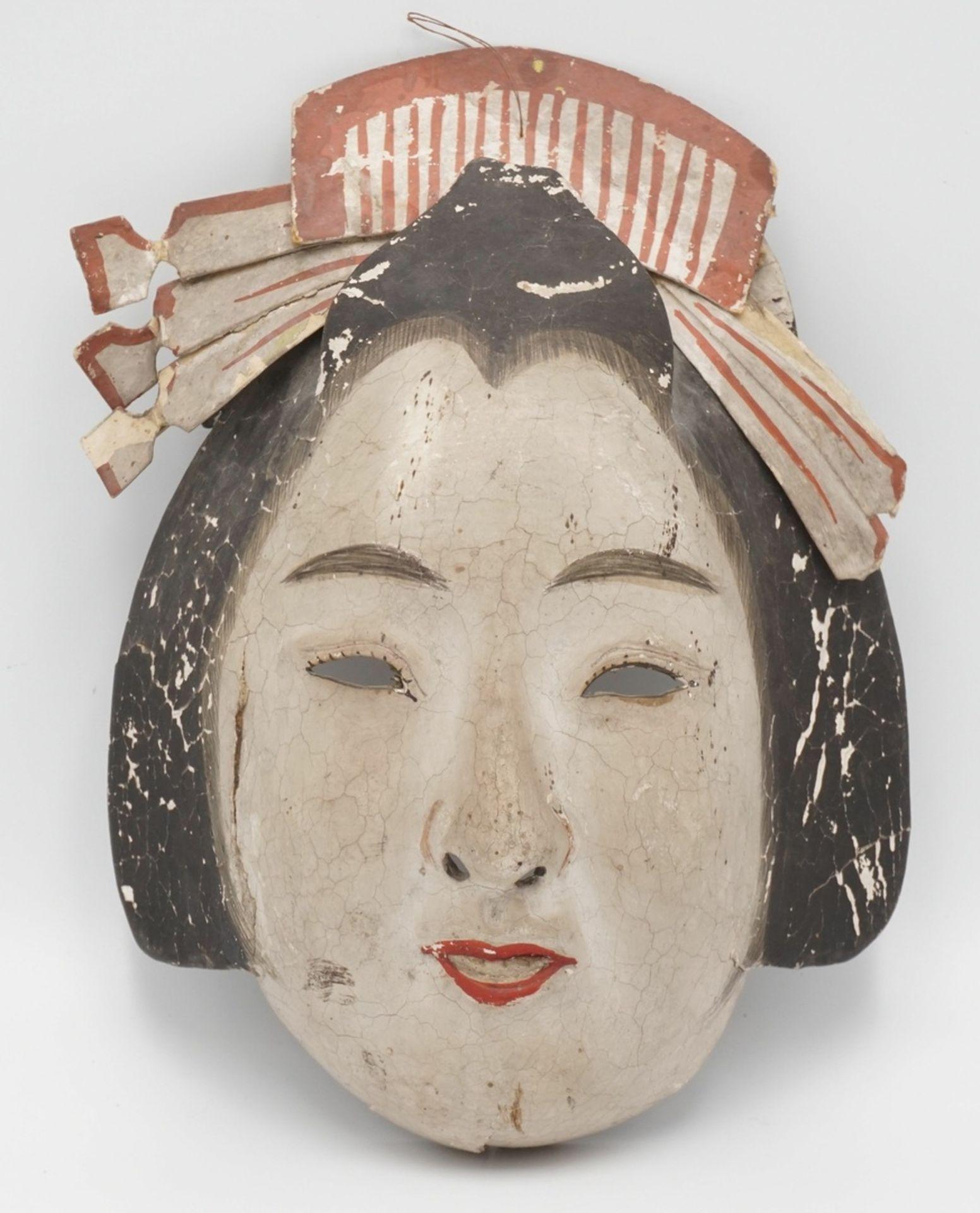 Zwei japanische Masken, Japan, um 1900 - Bild 5 aus 7