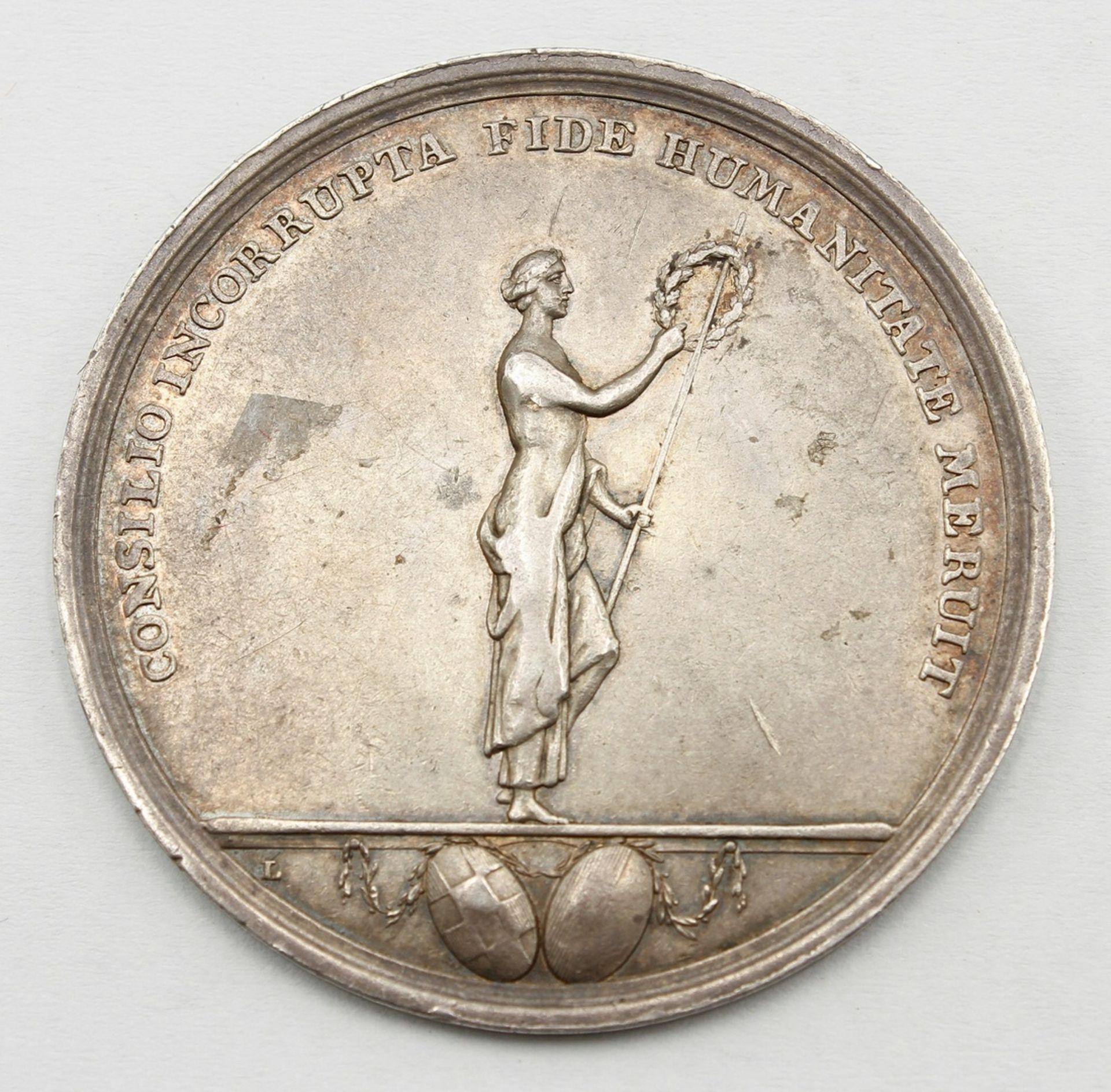 Jubiläums Medaille Halberstadt, 1802, J. J. Albert Hecht - Bild 2 aus 2