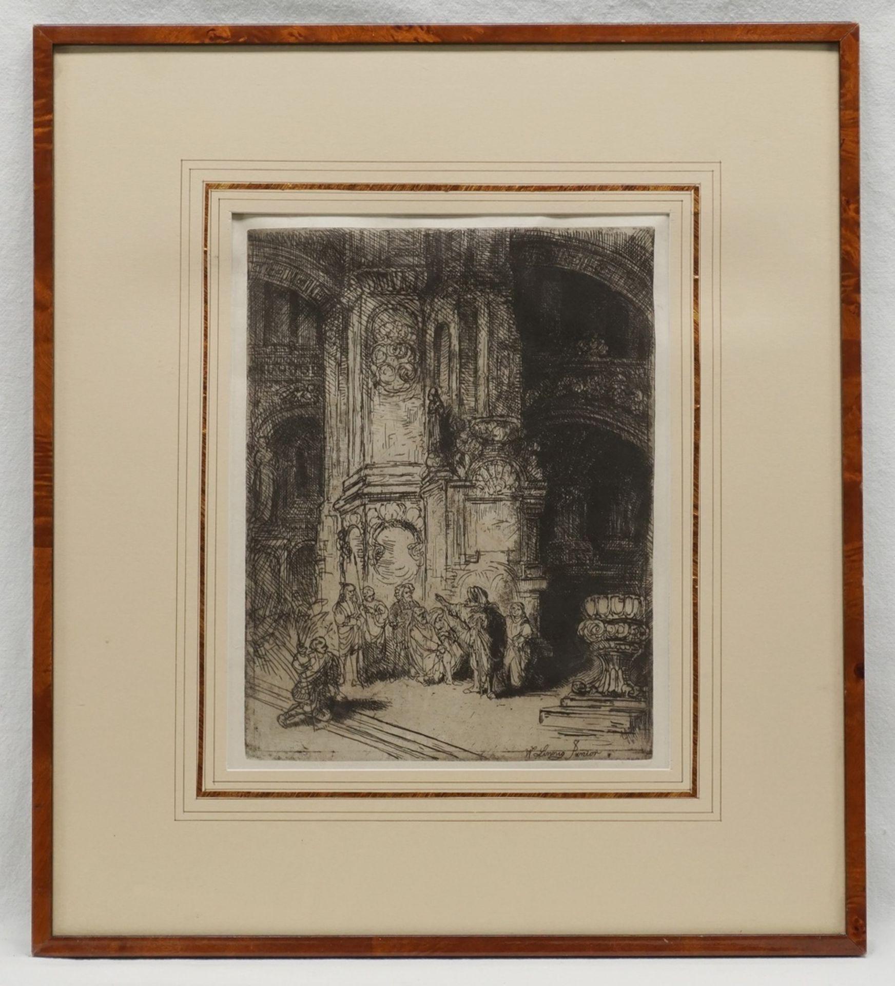 """Willem Linnig der Jüngere, """"In der Kathedrale"""" - Bild 2 aus 3"""