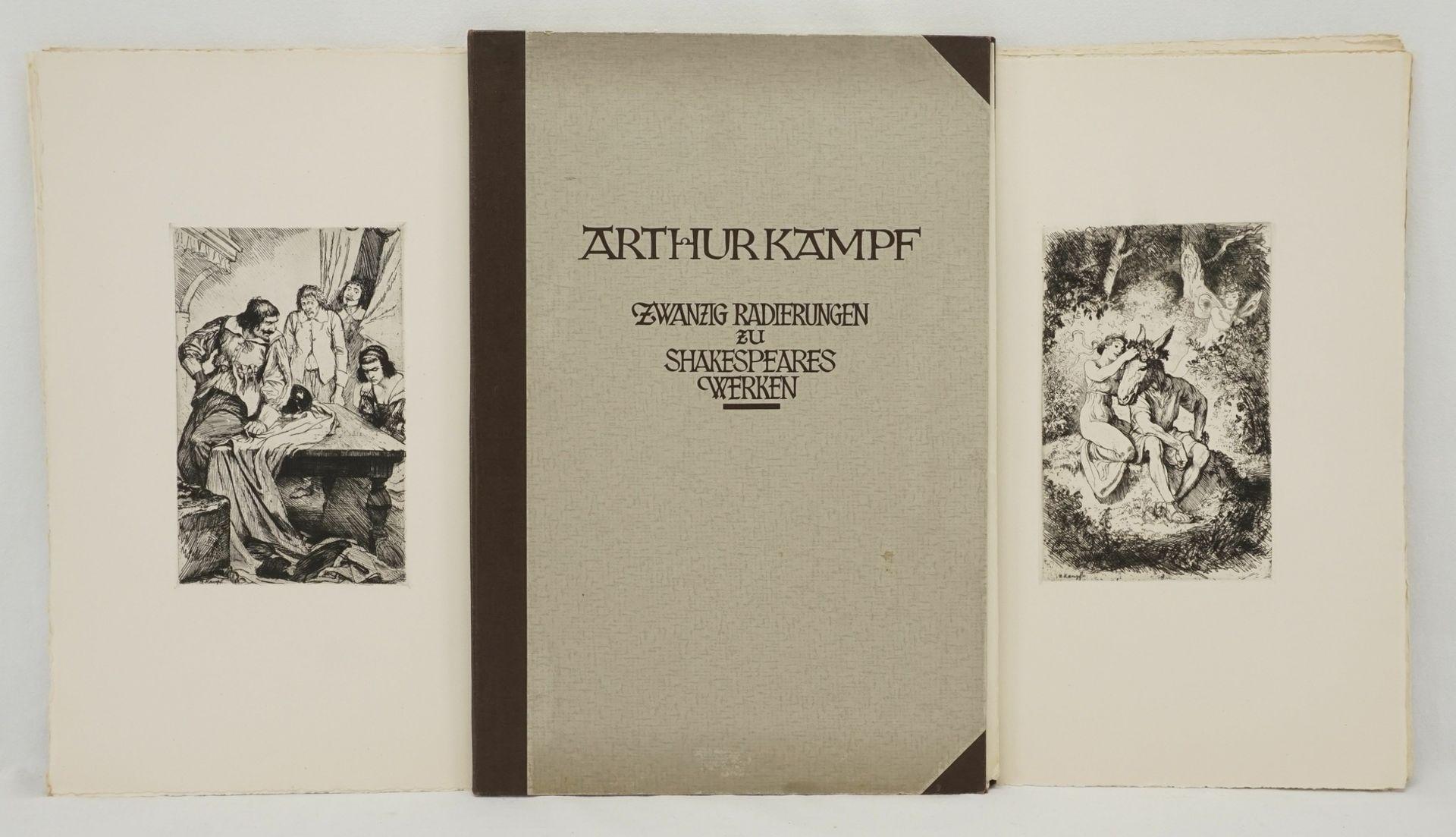 """Arthur Kampf, """"Zwanzig Radierungen zu Shakespeares Werken"""" (Mappe)"""
