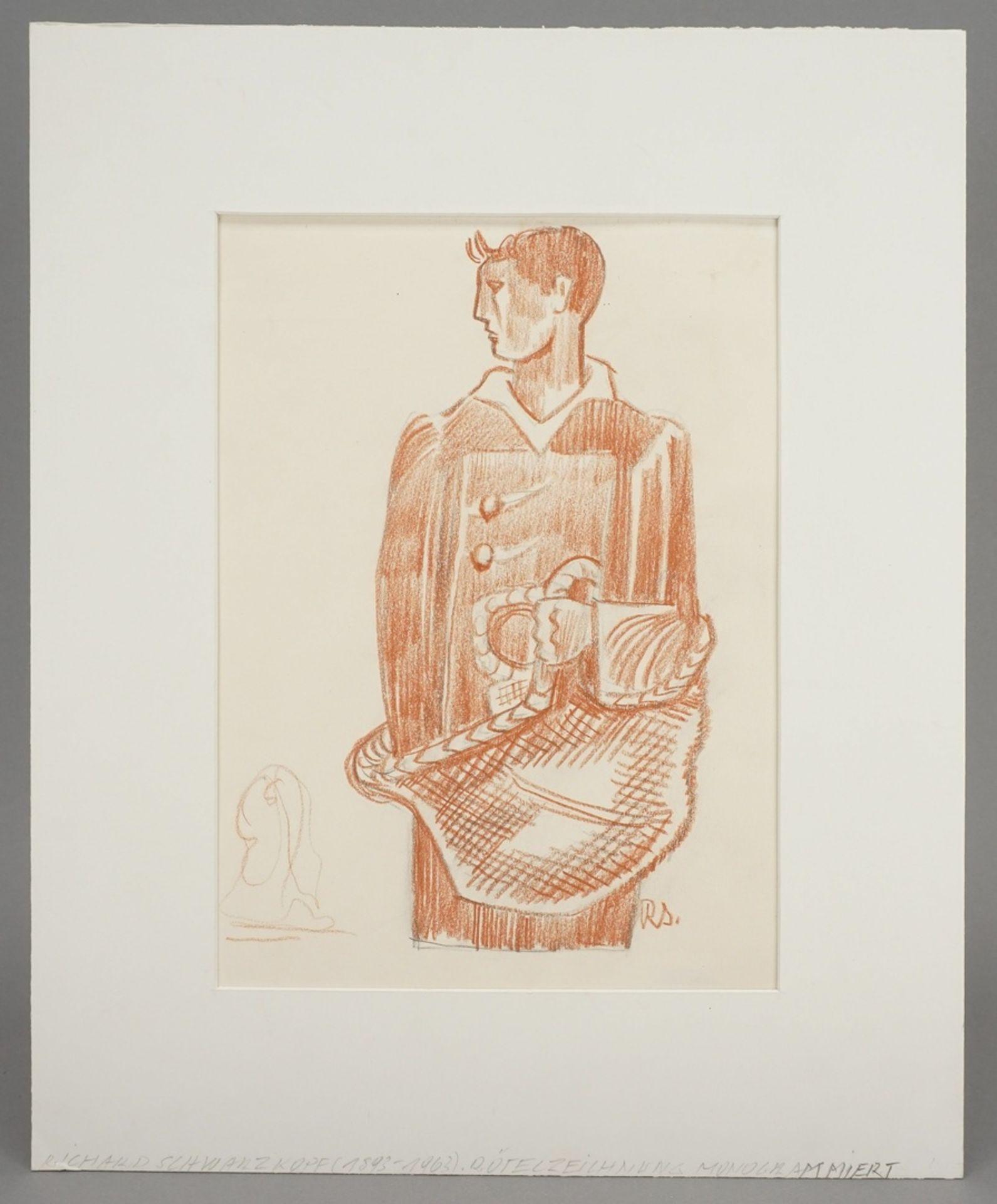 Richard Schwarzkopf, Männliche Figur mit Korb - Bild 2 aus 5