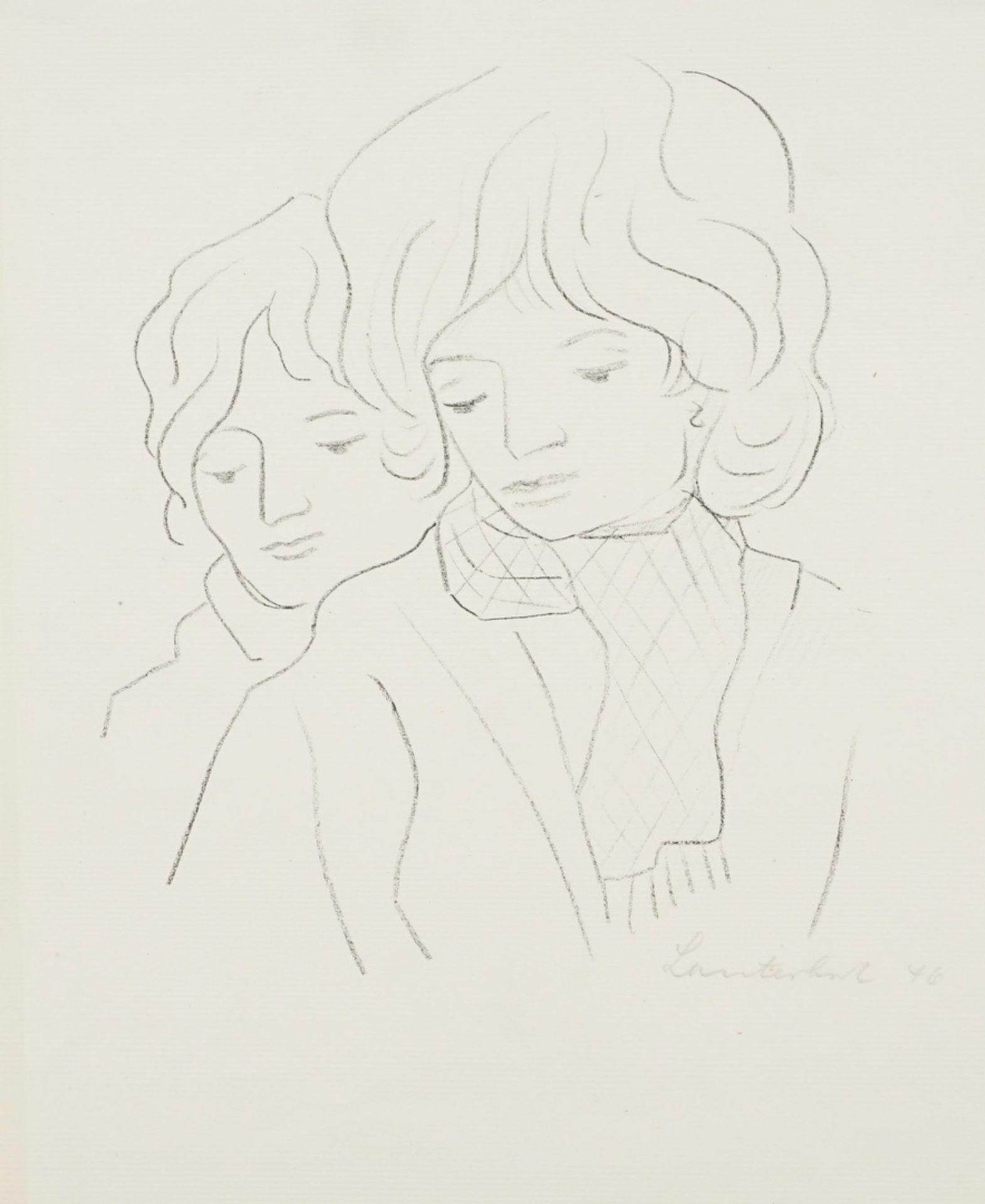 Carl Lauterbach, Zwei Frauenköpfe