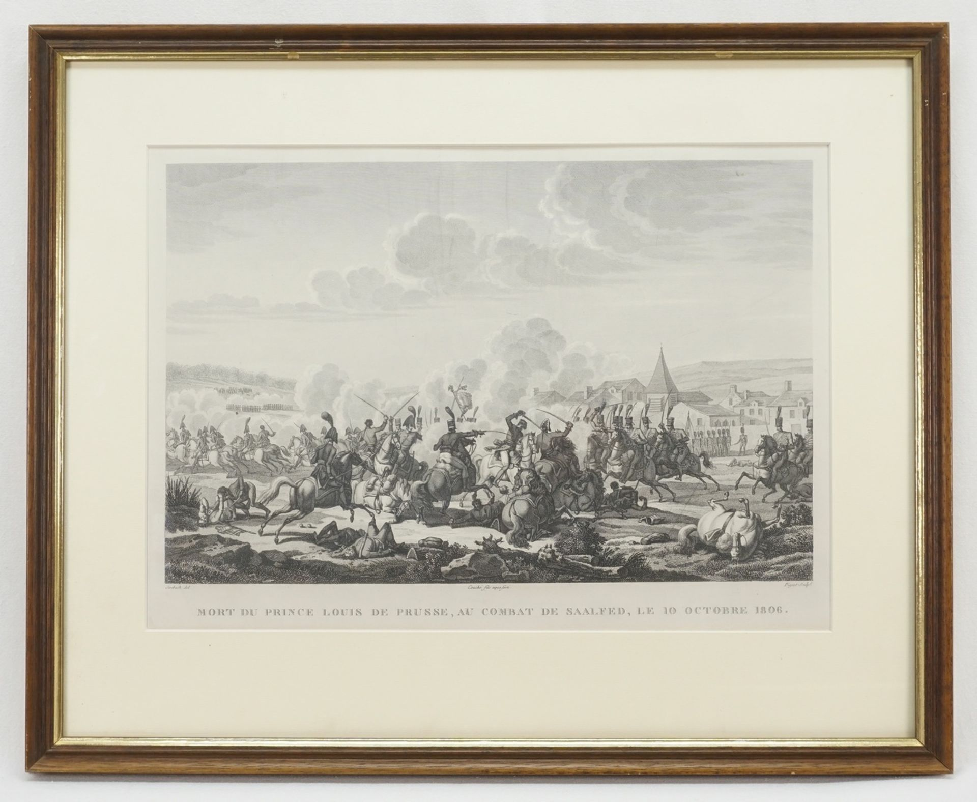 Mort de Prince Louis de Prusse, au combat de Saalfe[l]d, le 10 Octobre 1806 (Der Tod des ... - Bild 2 aus 2