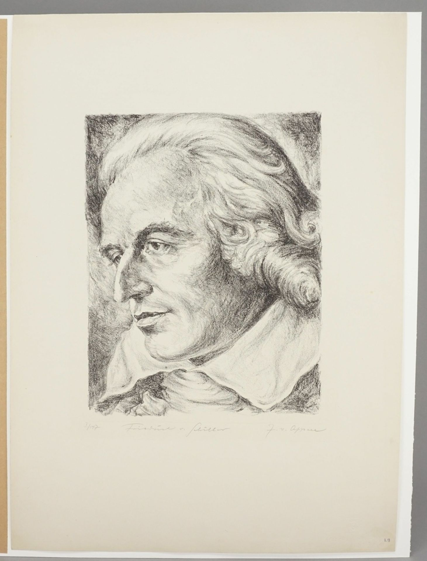 """J. von Appen, """"Portrait Friedrich von Schiller"""" - Bild 3 aus 4"""