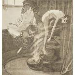 """Franz von Bayros, """"Die Fünf Sinne - Der Geruch"""""""