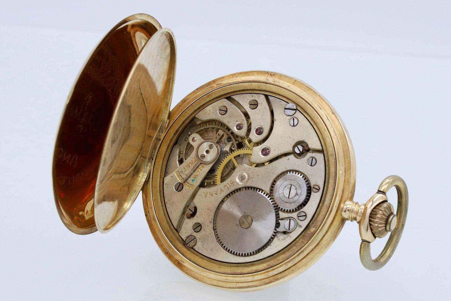 Silvana goldene Savonnette / Taschenuhr, um 1920 - Bild 5 aus 5