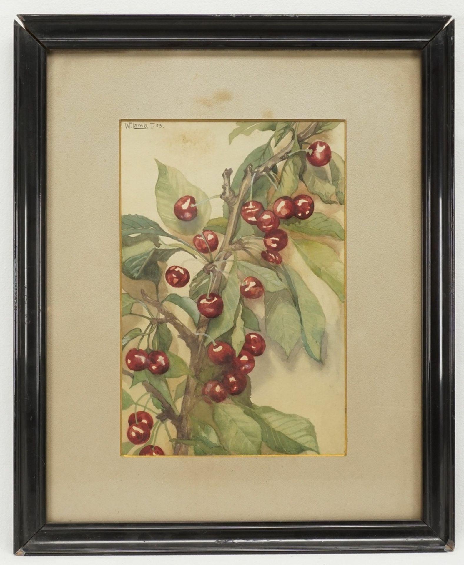 W. Lamb, Kirsch- und Apfelzweig - Bild 2 aus 6